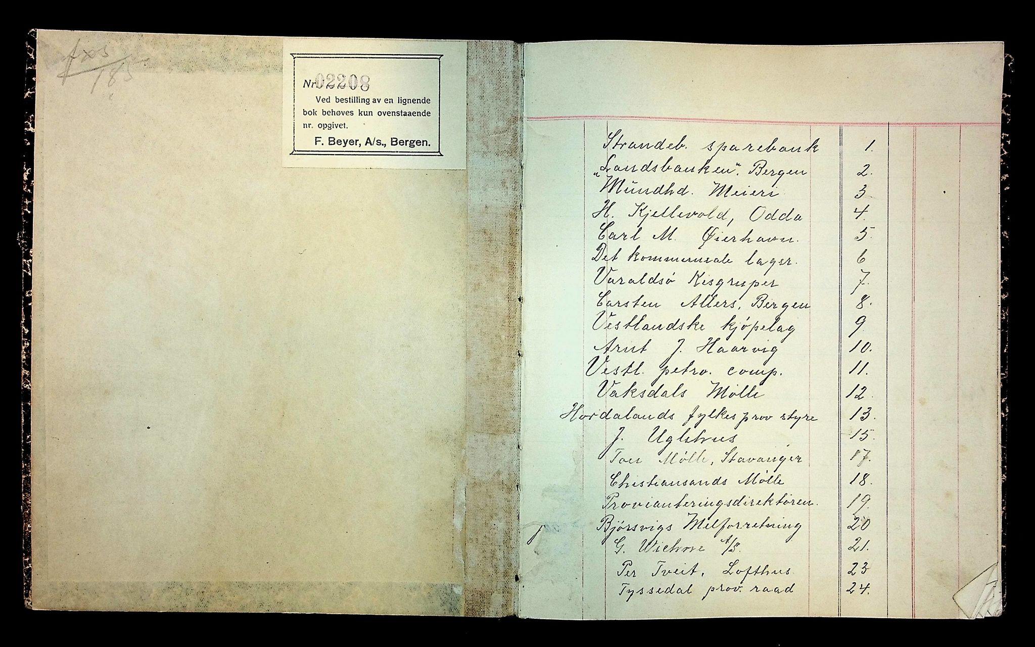 IKAH, Varaldsøy kommune. Mundheim provianteringsråd, R/Ra/L0002: Kontobok  for Mundheim provianteringsråd, 1919-1920, s. 2