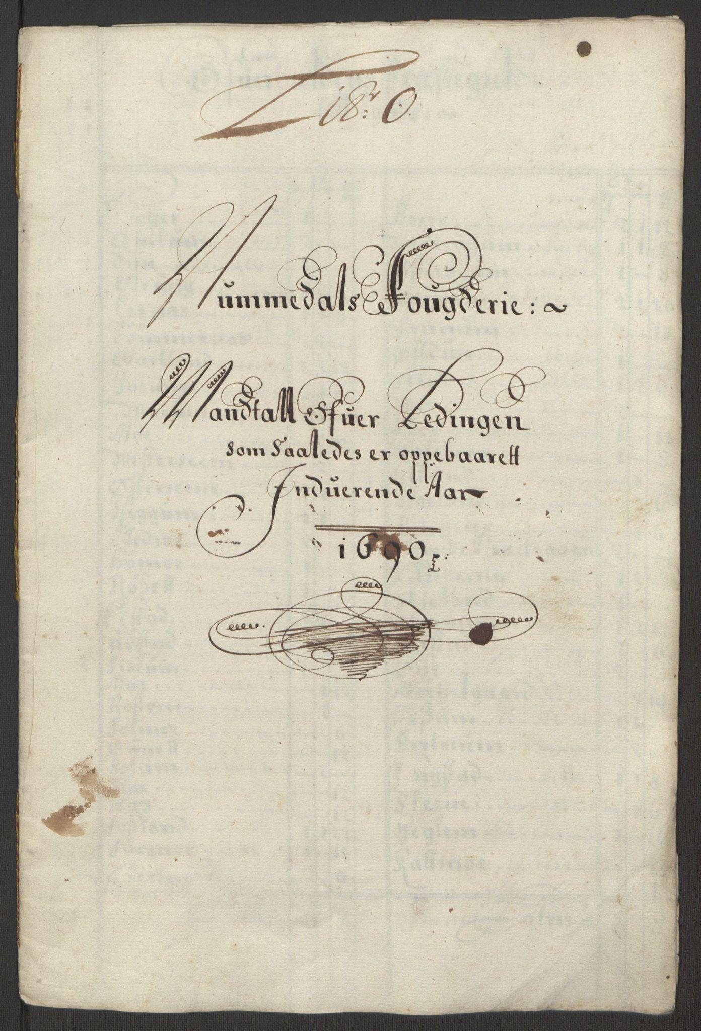 RA, Rentekammeret inntil 1814, Reviderte regnskaper, Fogderegnskap, R64/L4423: Fogderegnskap Namdal, 1690-1691, s. 89