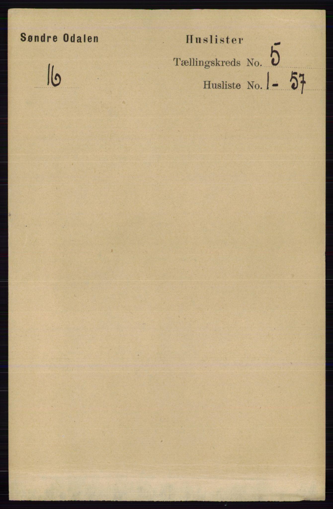 RA, Folketelling 1891 for 0419 Sør-Odal herred, 1891, s. 2269