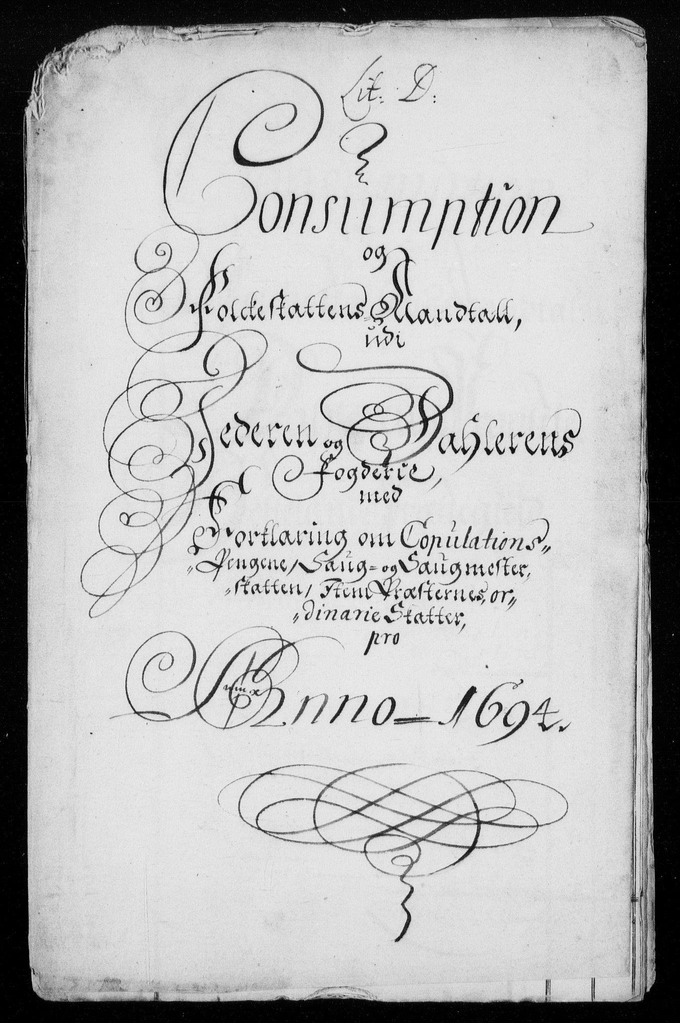 RA, Rentekammeret inntil 1814, Reviderte regnskaper, Fogderegnskap, R46/L2728: Fogderegnskap Jæren og Dalane, 1694-1696, s. 144