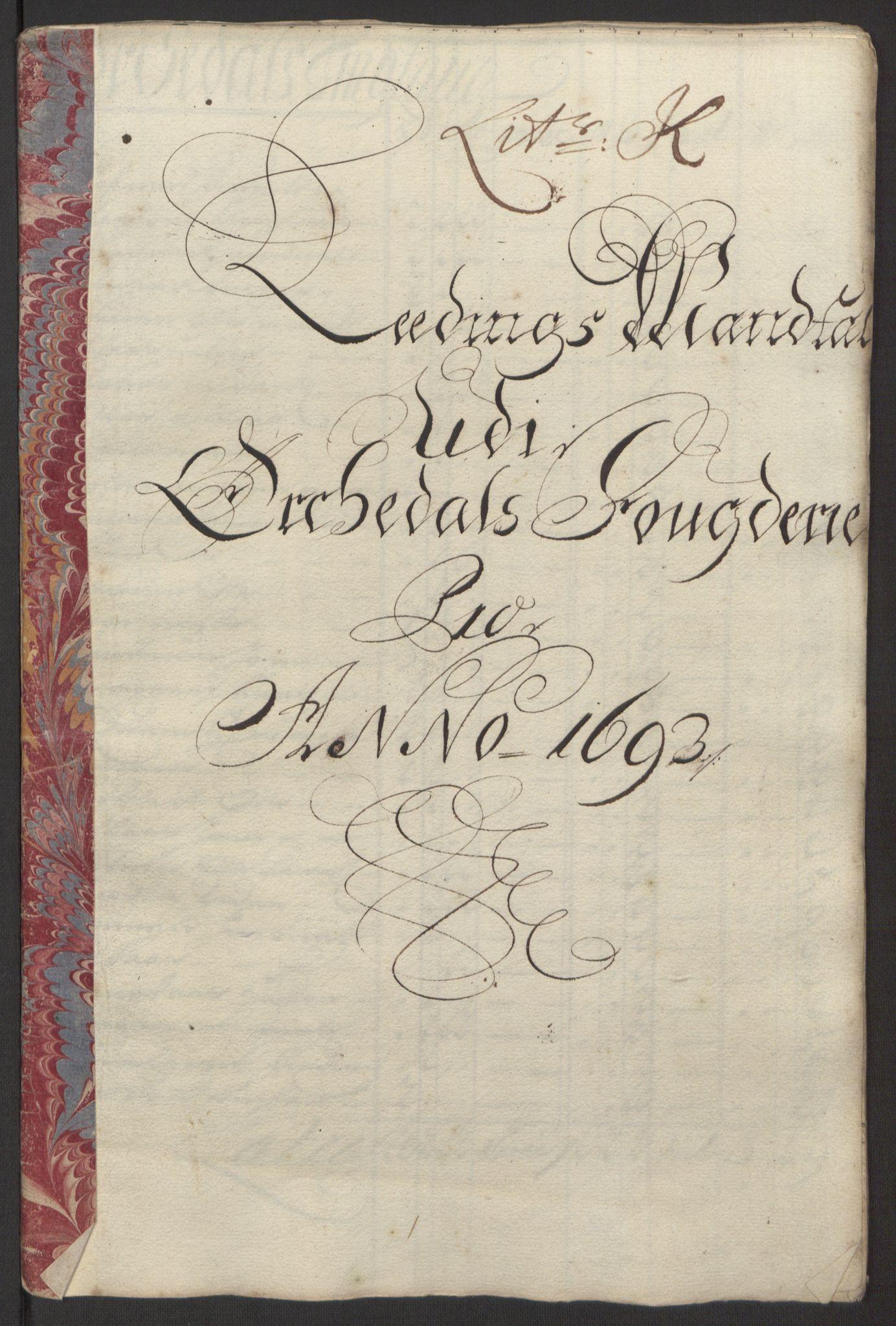 RA, Rentekammeret inntil 1814, Reviderte regnskaper, Fogderegnskap, R58/L3938: Fogderegnskap Orkdal, 1693, s. 142