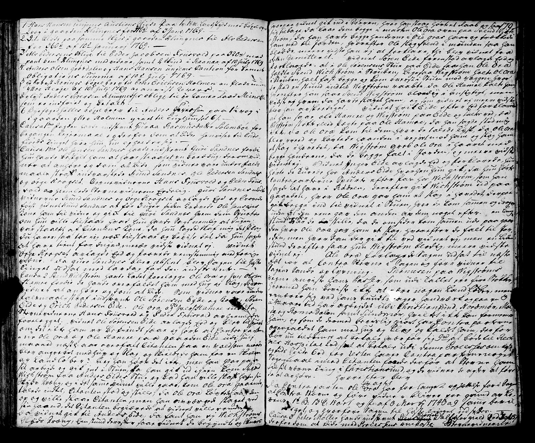 SAT, Romsdal sorenskriveri, 1/1A/L0015: Tingbok, 1765-1775, s. 178b-179a