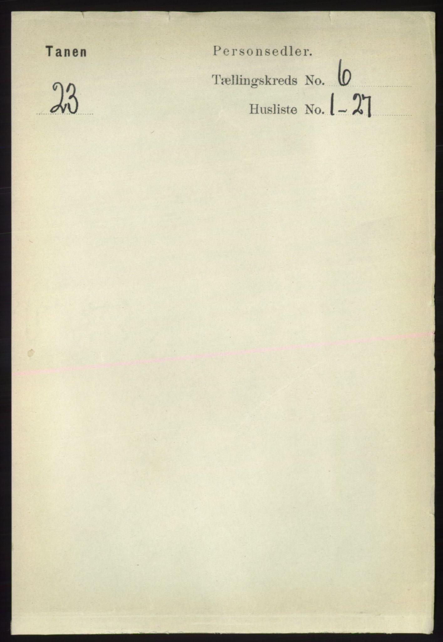 RA, Folketelling 1891 for 2025 Tana herred, 1891, s. 2798