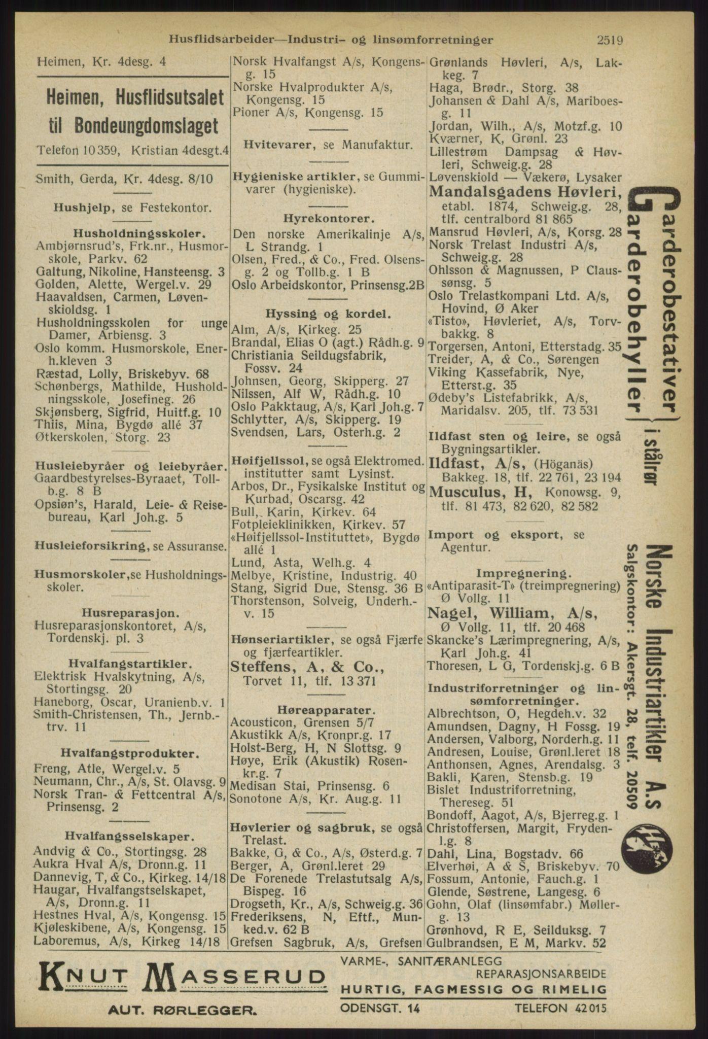 RA, Oslo adressebok (publikasjon)*, 1936, s. 2519