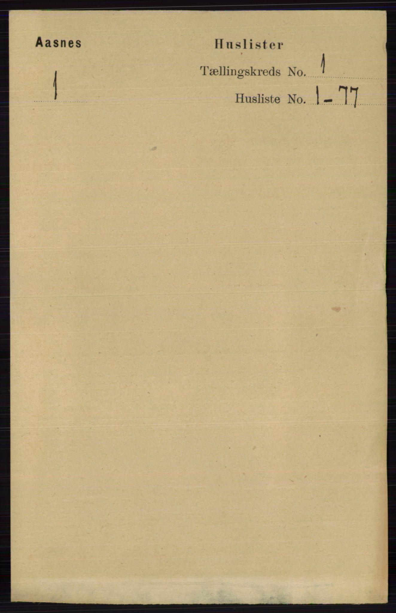 RA, Folketelling 1891 for 0425 Åsnes herred, 1891, s. 31