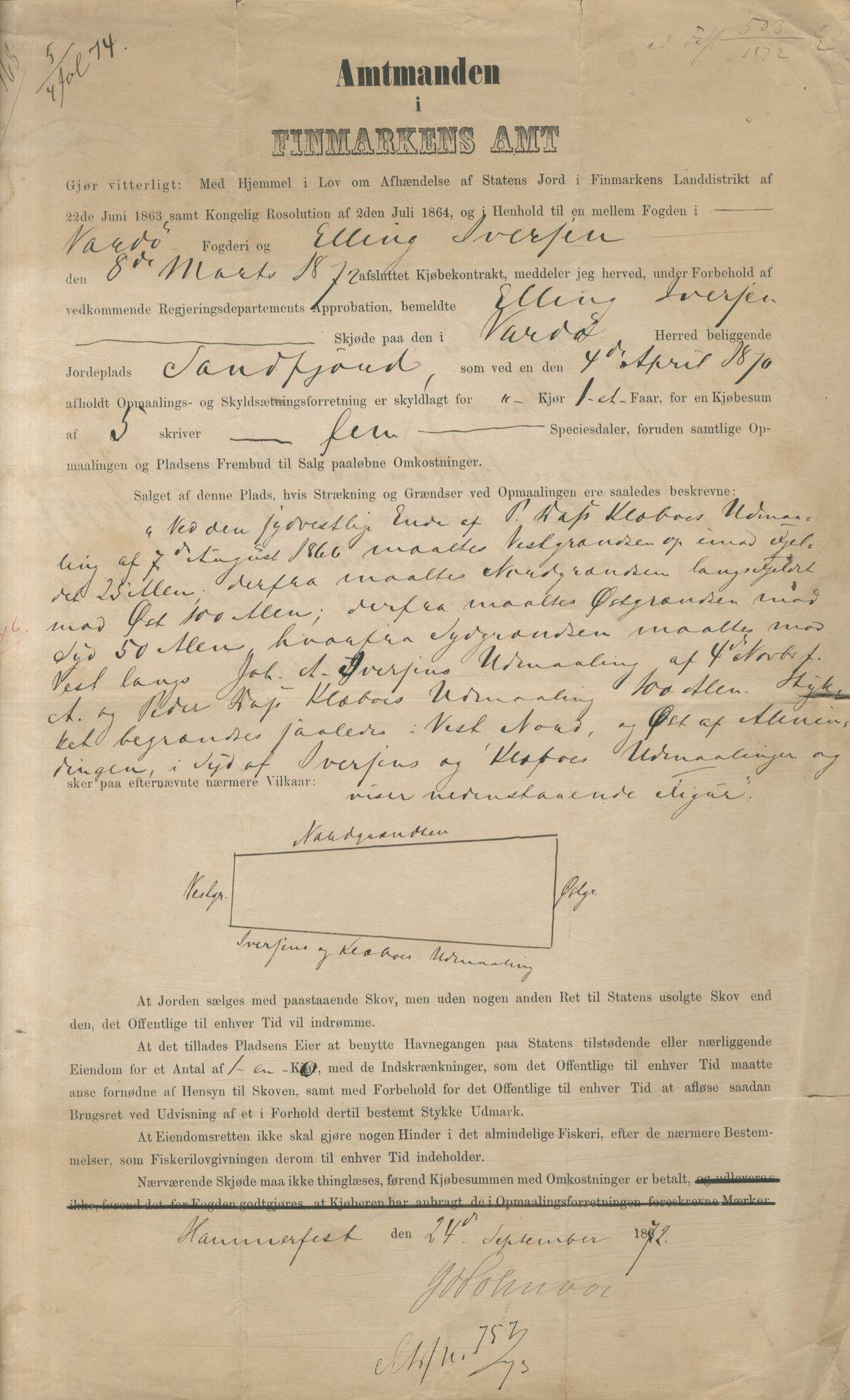 VAMU, Brodtkorb handel A/S, Q/Qb/L0003: Faste eiendommer i Vardø Herred, 1862-1939, s. 280
