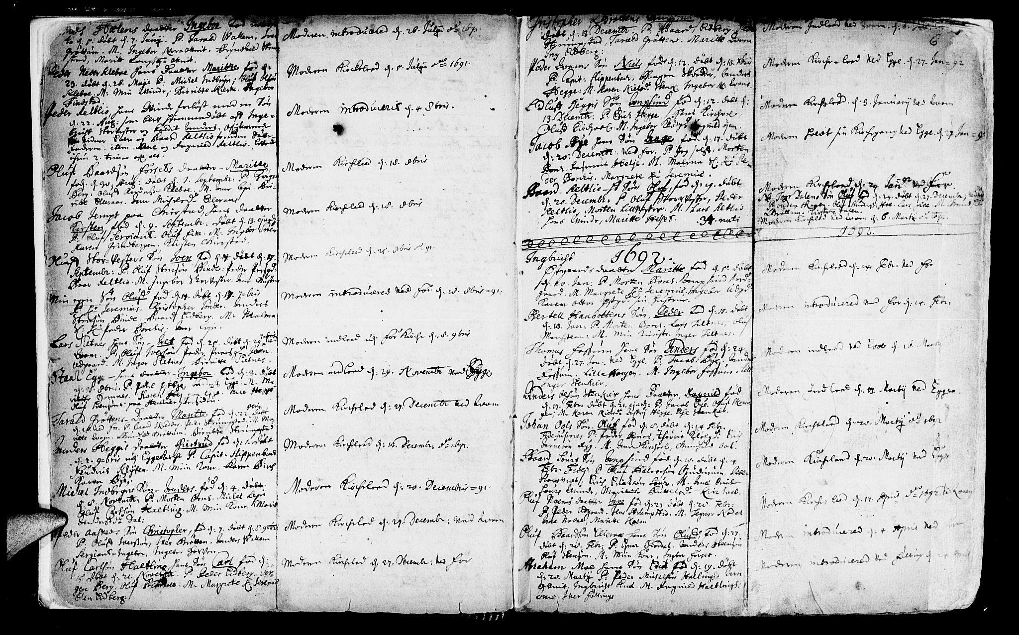 SAT, Ministerialprotokoller, klokkerbøker og fødselsregistre - Nord-Trøndelag, 746/L0439: Ministerialbok nr. 746A01, 1688-1759, s. 6