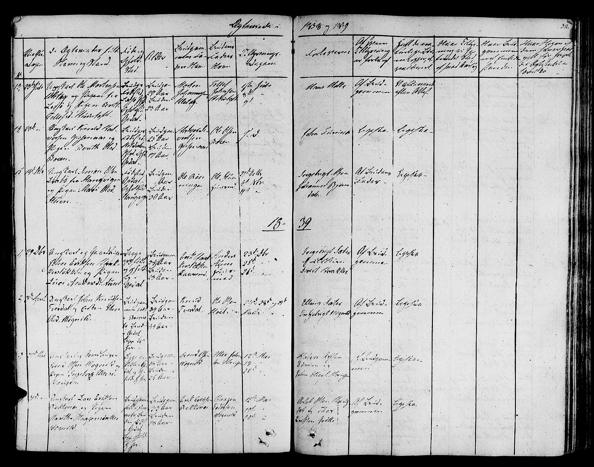 SAT, Ministerialprotokoller, klokkerbøker og fødselsregistre - Sør-Trøndelag, 678/L0897: Ministerialbok nr. 678A06-07, 1821-1847, s. 311