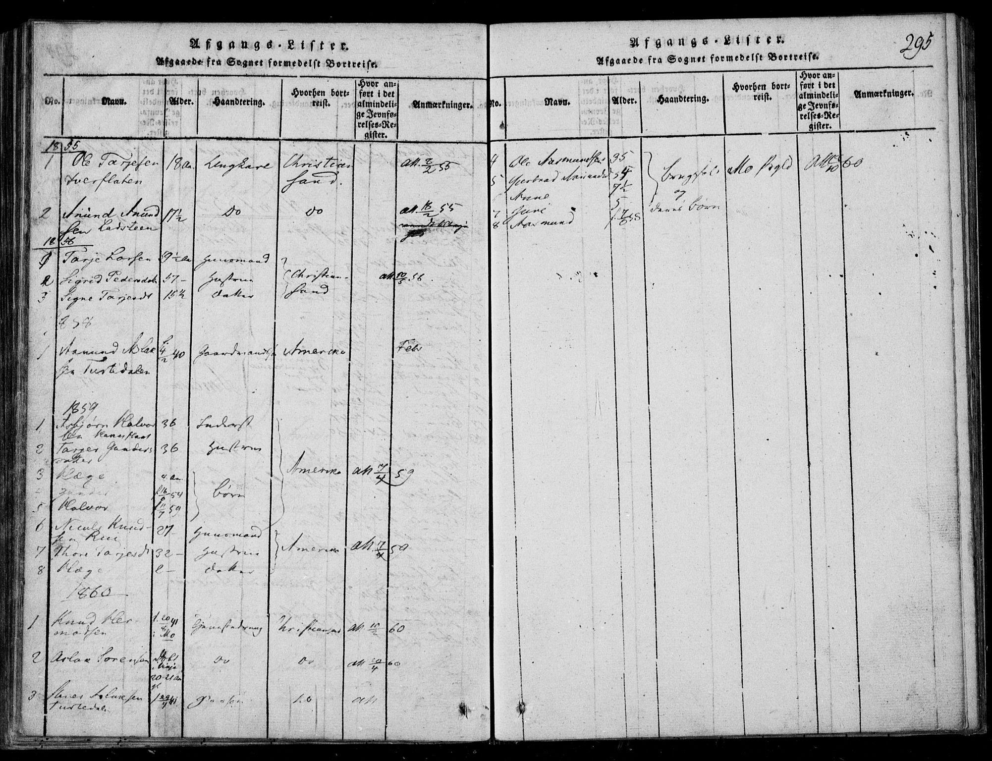 SAKO, Lårdal kirkebøker, F/Fb/L0001: Ministerialbok nr. II 1, 1815-1860, s. 295
