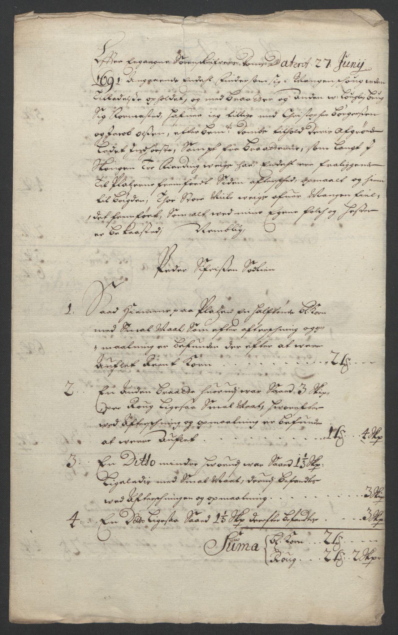 RA, Rentekammeret inntil 1814, Reviderte regnskaper, Fogderegnskap, R11/L0577: Fogderegnskap Nedre Romerike, 1692, s. 43