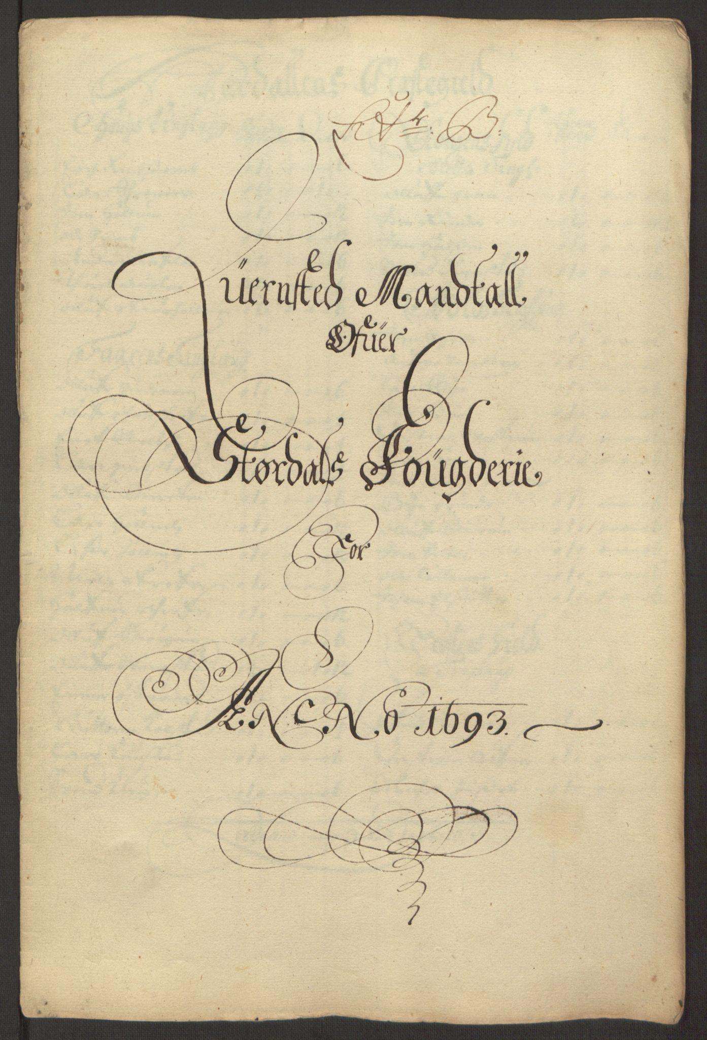 RA, Rentekammeret inntil 1814, Reviderte regnskaper, Fogderegnskap, R62/L4186: Fogderegnskap Stjørdal og Verdal, 1693-1694, s. 27
