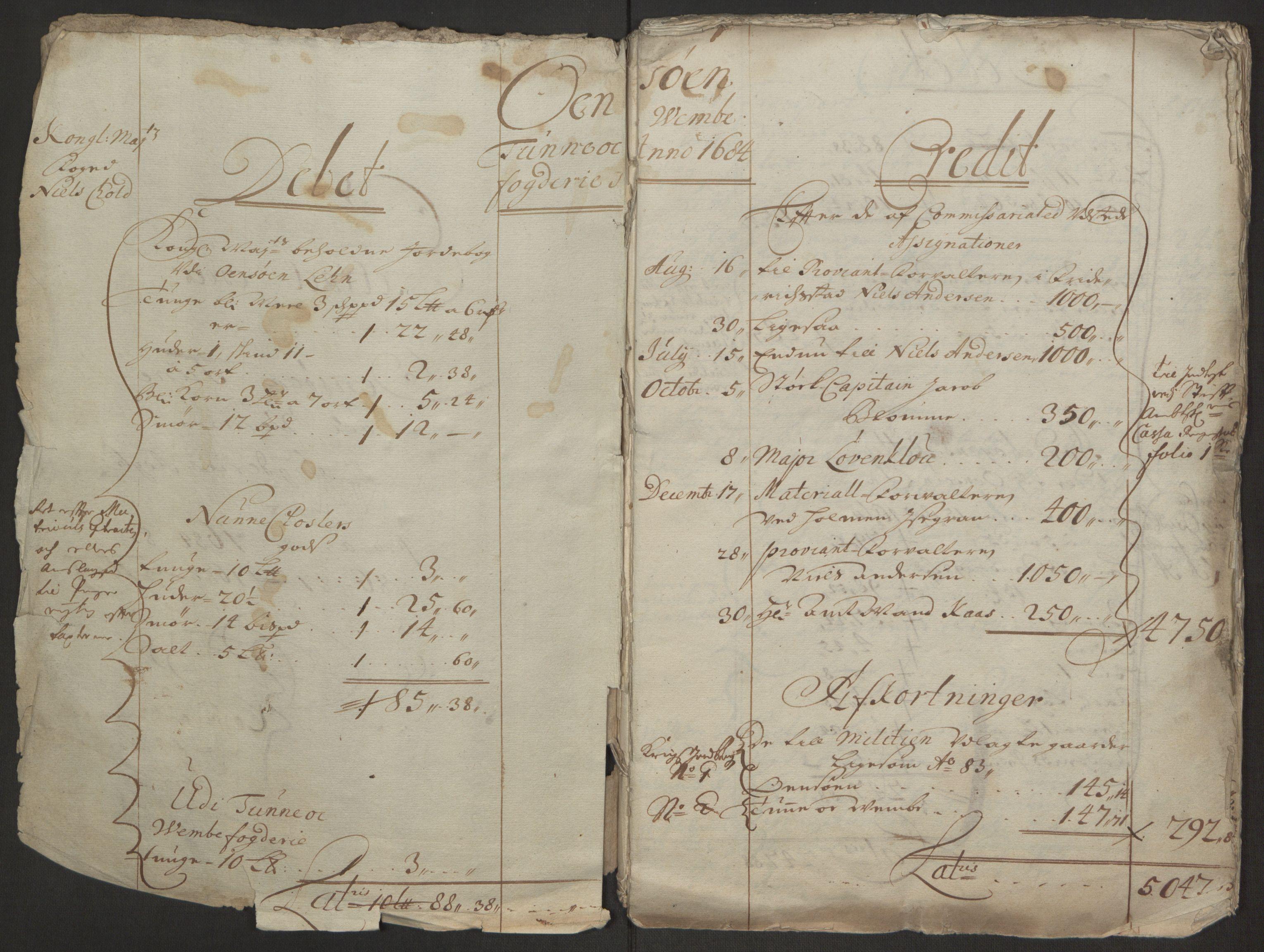 RA, Rentekammeret inntil 1814, Reviderte regnskaper, Fogderegnskap, R03/L0118: Fogderegnskap Onsøy, Tune, Veme og Åbygge fogderi, 1684-1689, s. 61