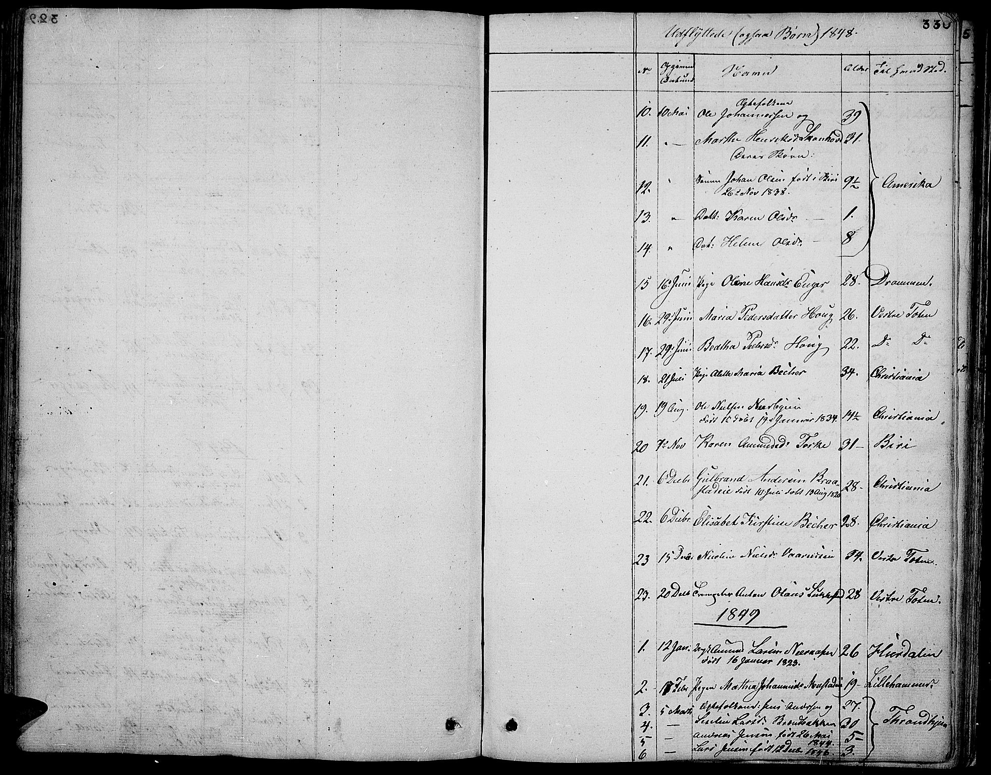 SAH, Vardal prestekontor, H/Ha/Hab/L0004: Klokkerbok nr. 4, 1831-1853, s. 330