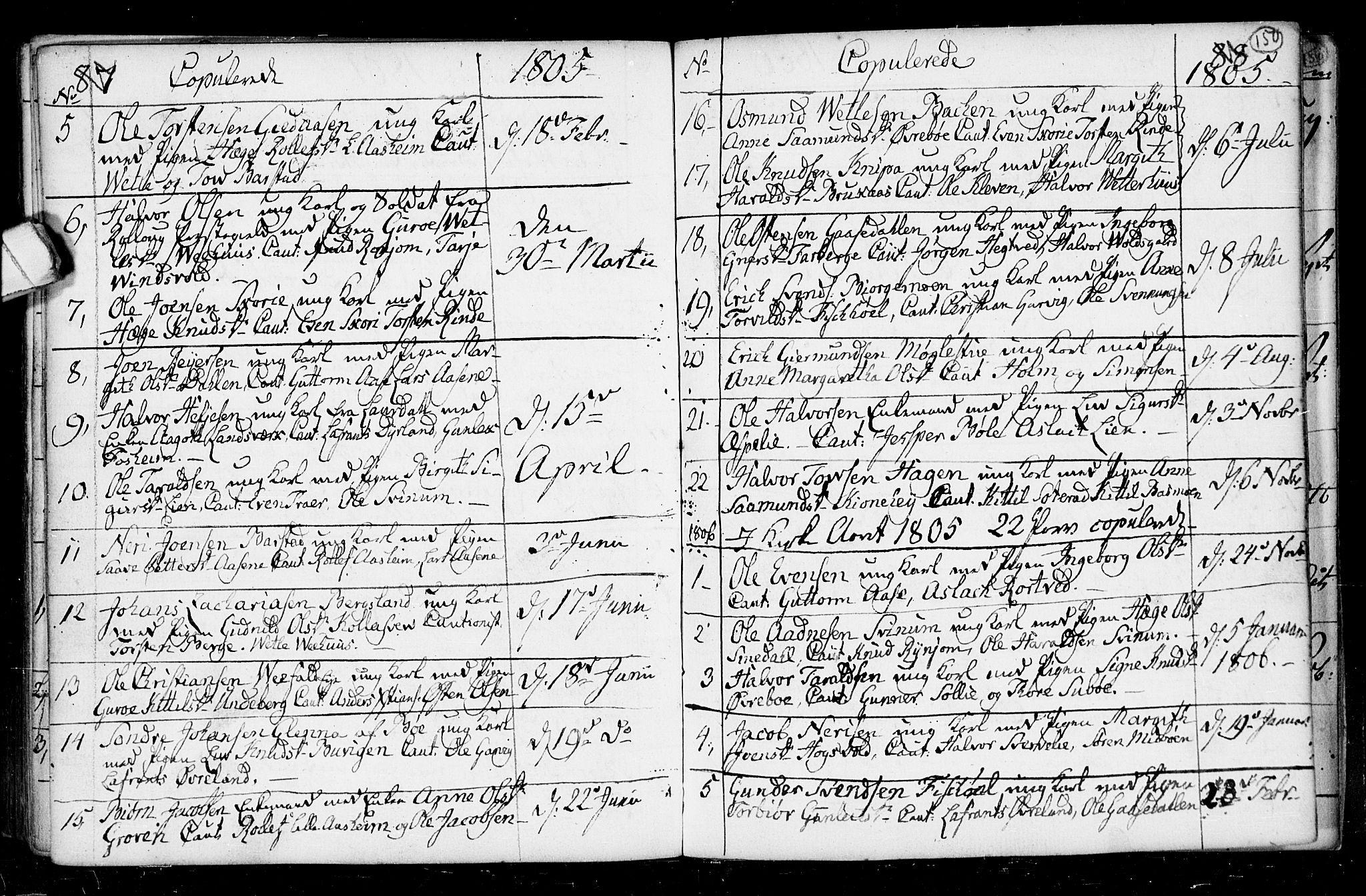 SAKO, Seljord kirkebøker, F/Fa/L0008: Ministerialbok nr. I 8, 1755-1814, s. 150