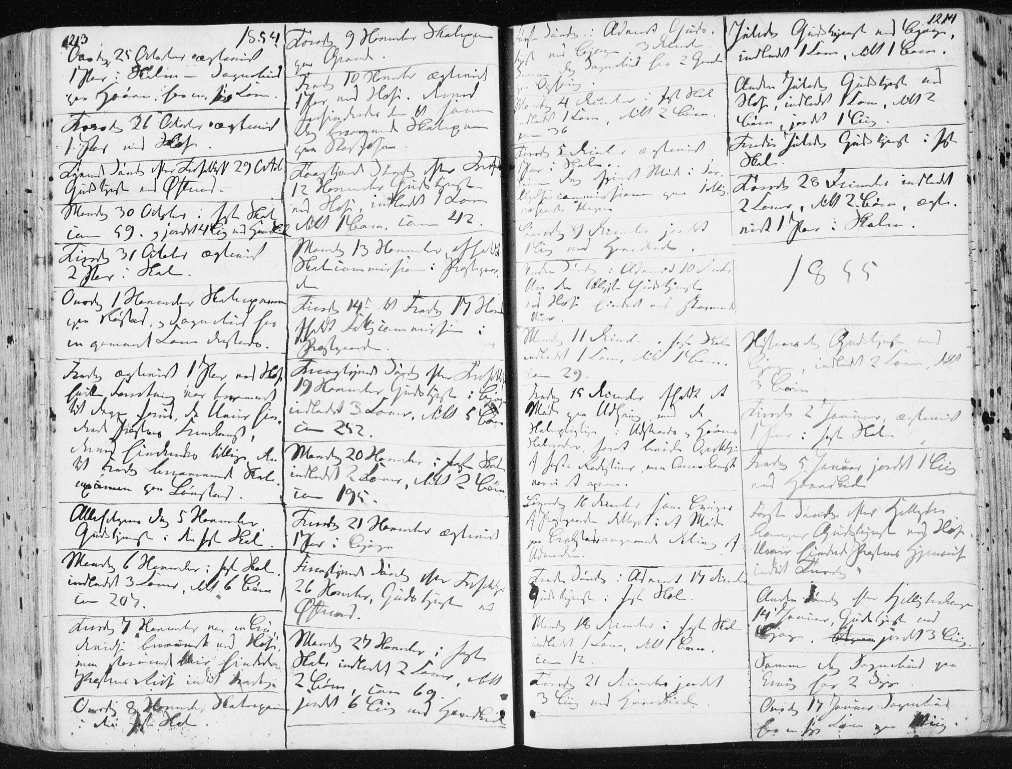 SAT, Ministerialprotokoller, klokkerbøker og fødselsregistre - Sør-Trøndelag, 659/L0736: Ministerialbok nr. 659A06, 1842-1856, s. 1213-1214
