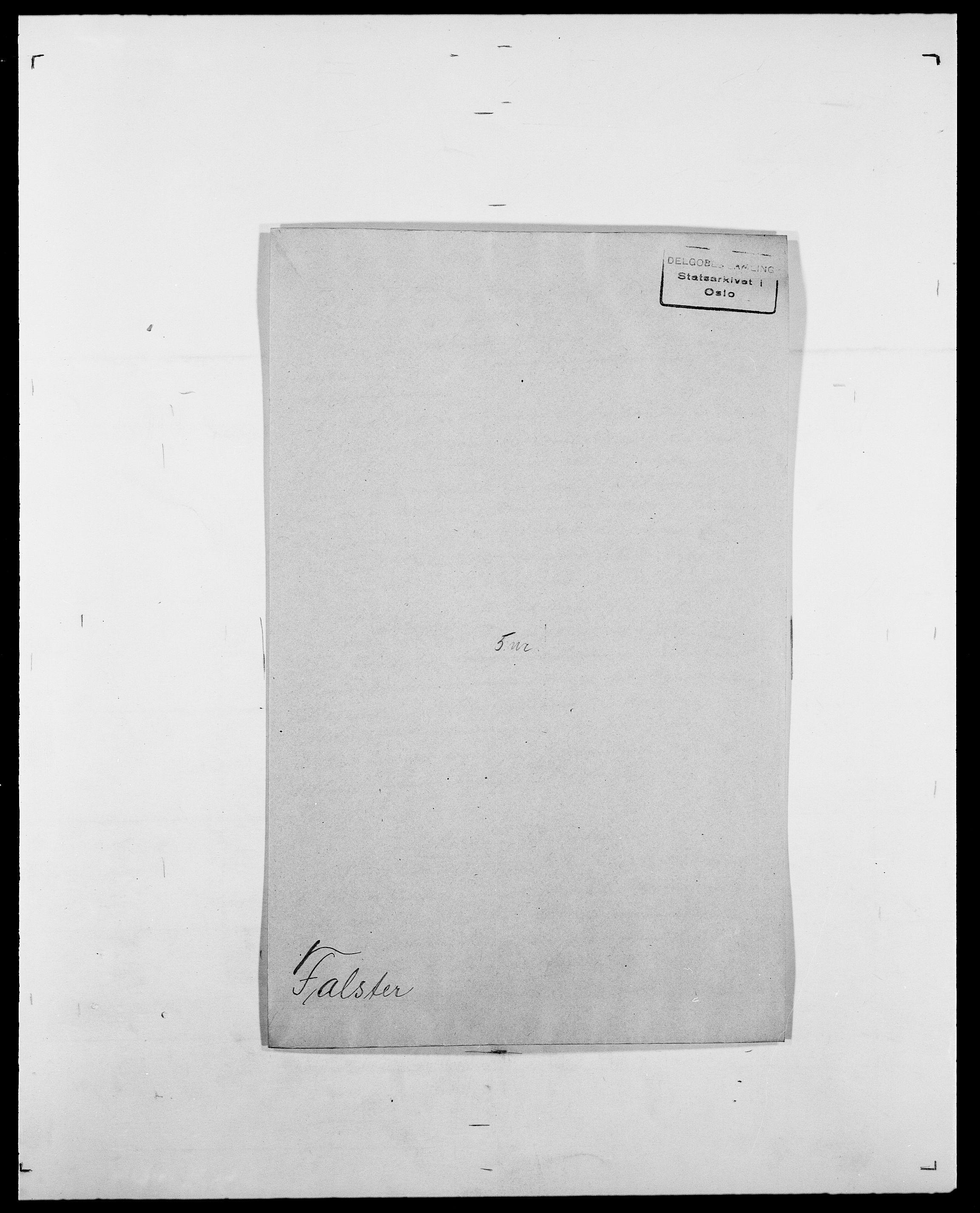 SAO, Delgobe, Charles Antoine - samling, D/Da/L0011: Fahlander - Flood, Flod, s. 157