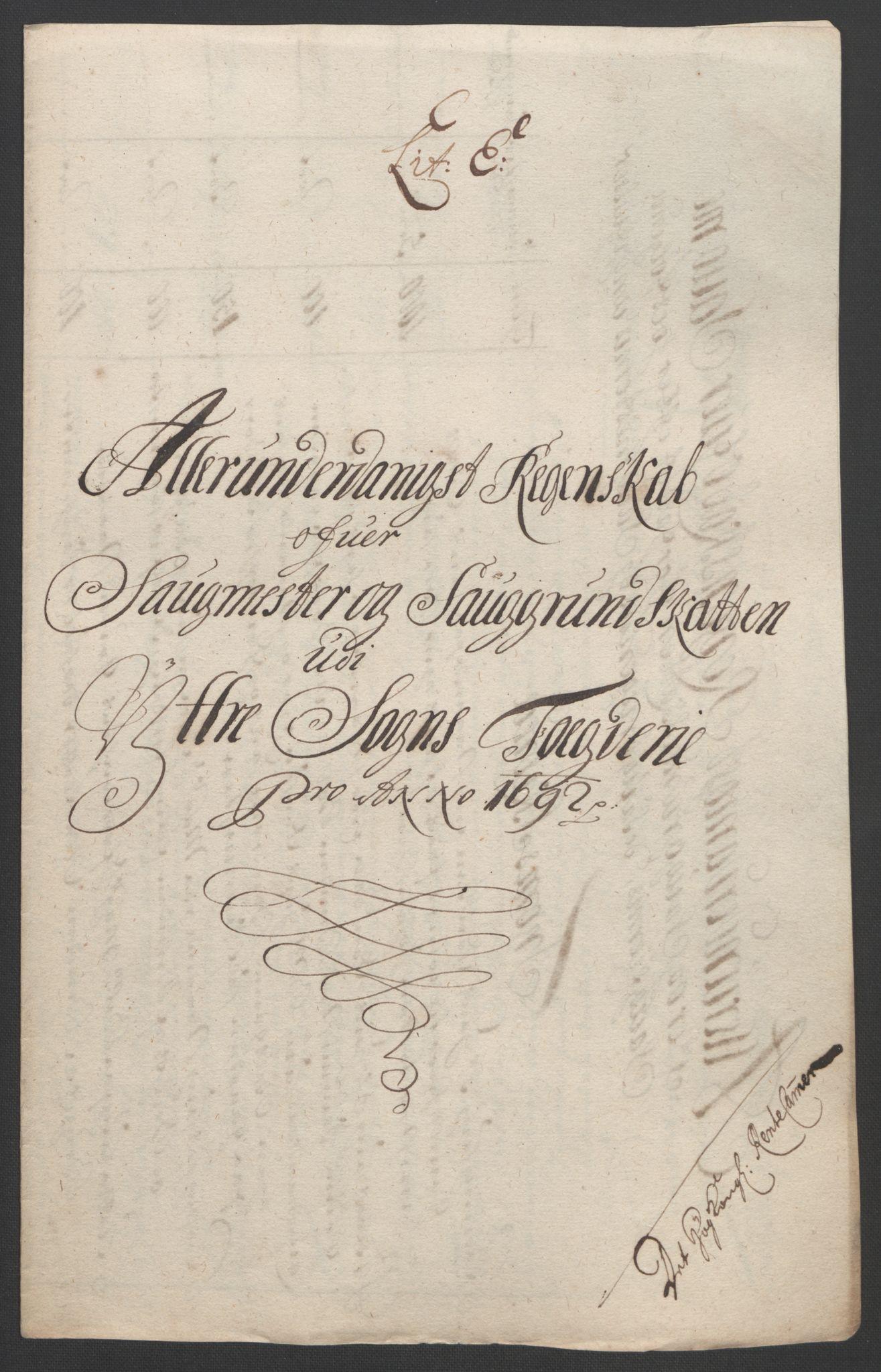 RA, Rentekammeret inntil 1814, Reviderte regnskaper, Fogderegnskap, R52/L3306: Fogderegnskap Sogn, 1691-1692, s. 348