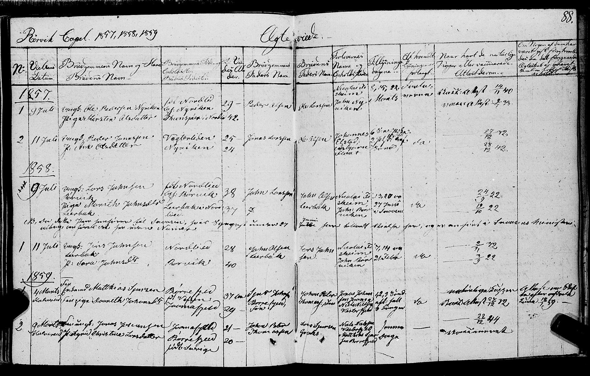 SAT, Ministerialprotokoller, klokkerbøker og fødselsregistre - Nord-Trøndelag, 762/L0538: Ministerialbok nr. 762A02 /1, 1833-1879, s. 88