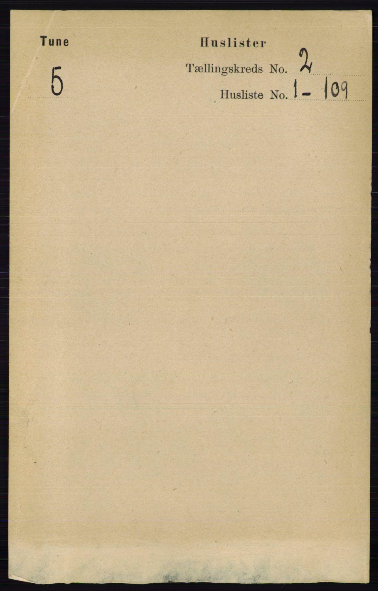 RA, Folketelling 1891 for 0130 Tune herred, 1891, s. 629