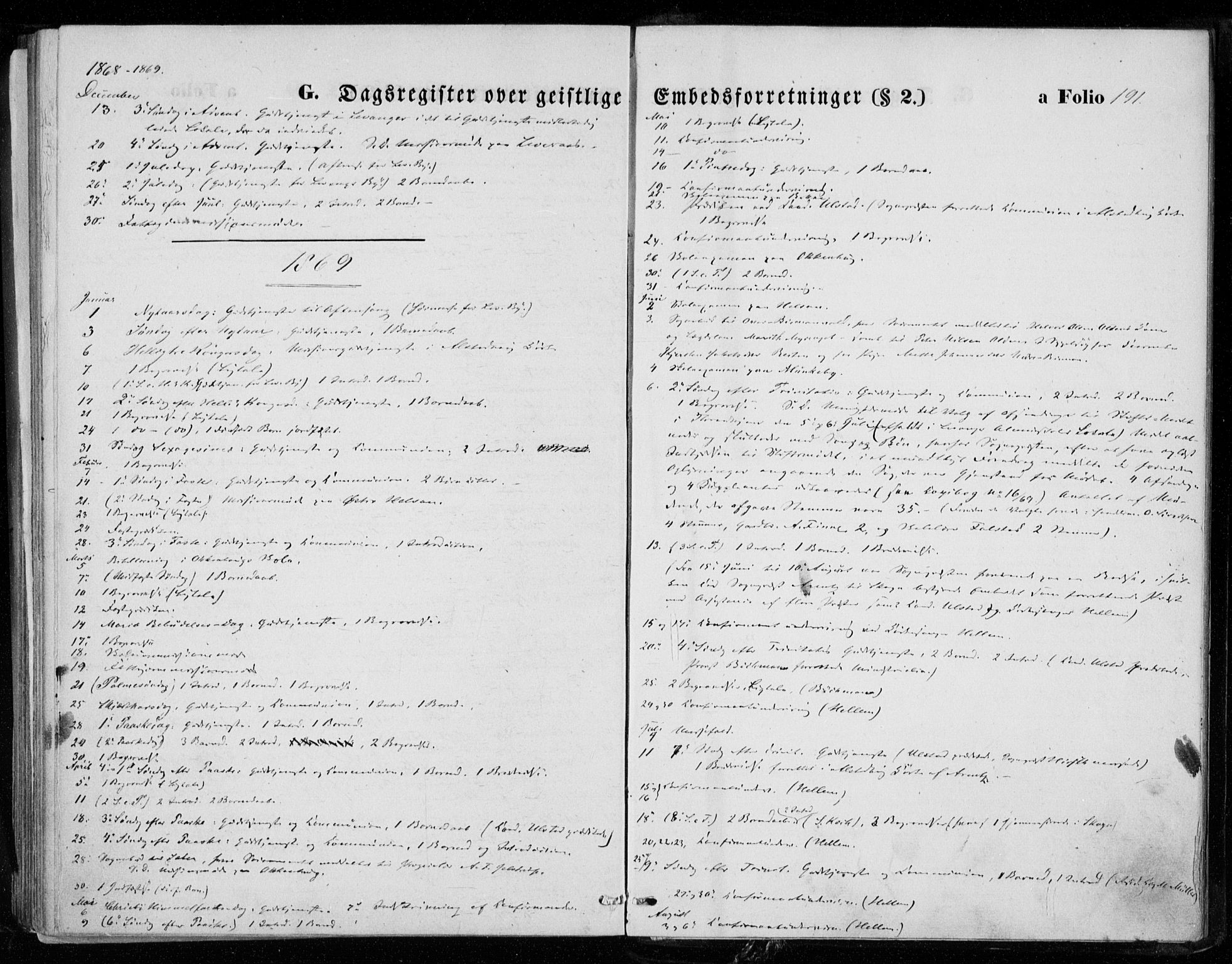 SAT, Ministerialprotokoller, klokkerbøker og fødselsregistre - Nord-Trøndelag, 721/L0206: Ministerialbok nr. 721A01, 1864-1874, s. 191