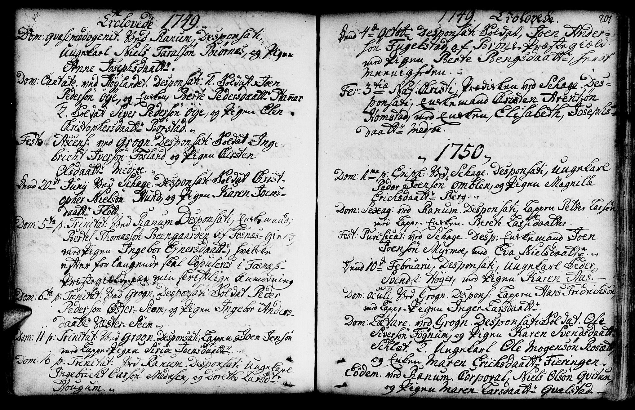 SAT, Ministerialprotokoller, klokkerbøker og fødselsregistre - Nord-Trøndelag, 764/L0542: Ministerialbok nr. 764A02, 1748-1779, s. 201