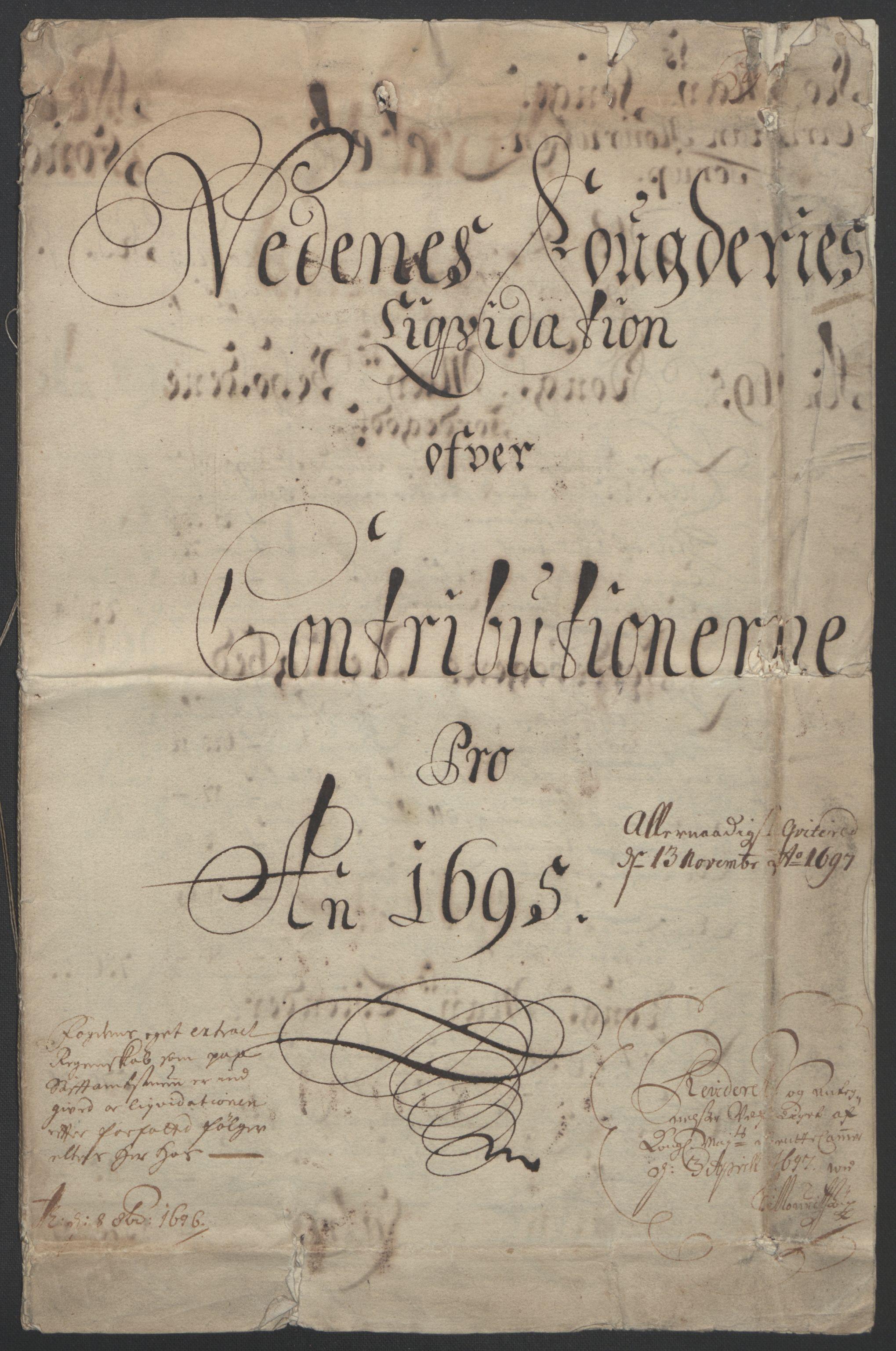 RA, Rentekammeret inntil 1814, Reviderte regnskaper, Fogderegnskap, R39/L2312: Fogderegnskap Nedenes, 1693-1695, s. 226