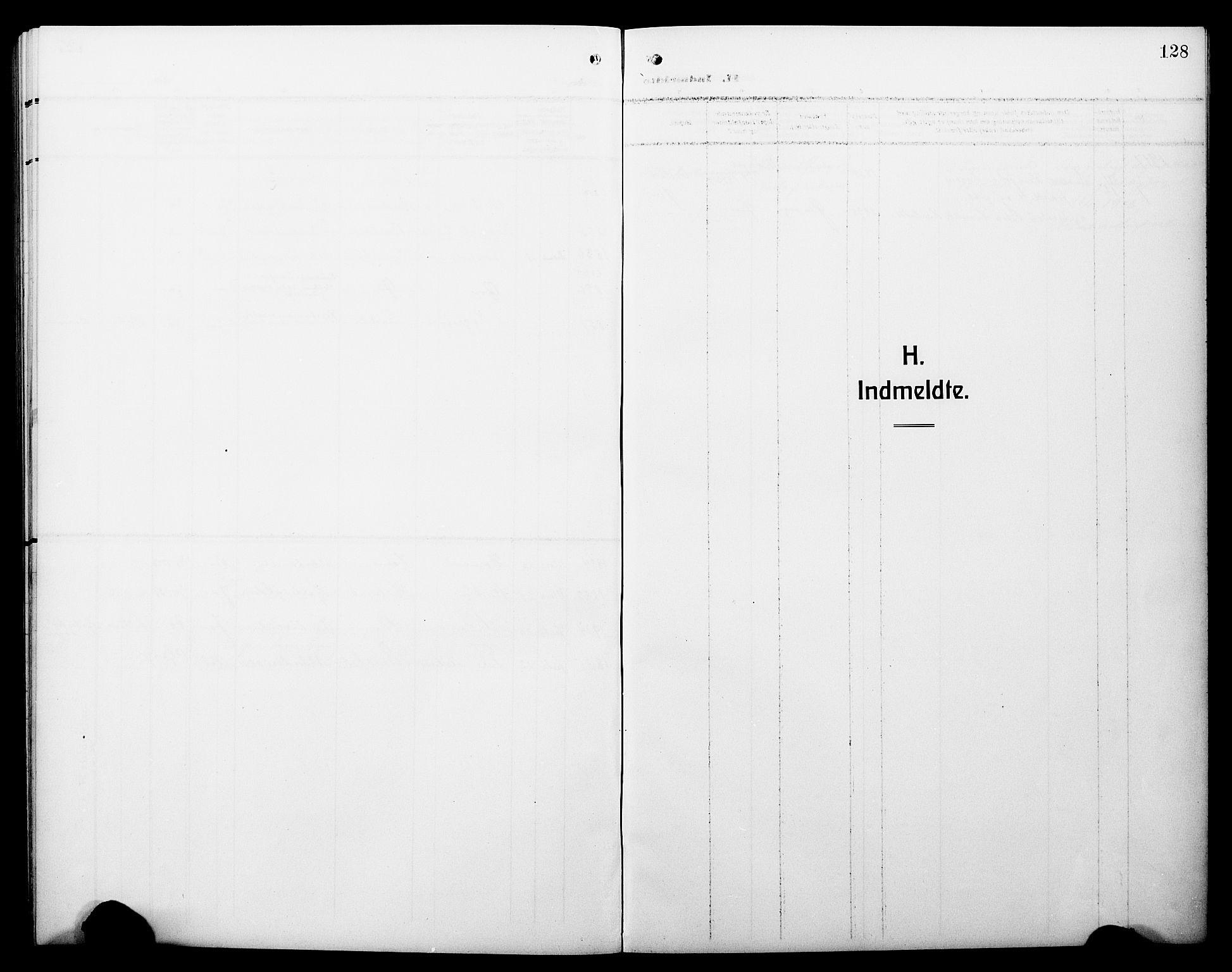 SAB, Hyllestad Sokneprestembete, Klokkerbok nr. C 4, 1914-1927, s. 128
