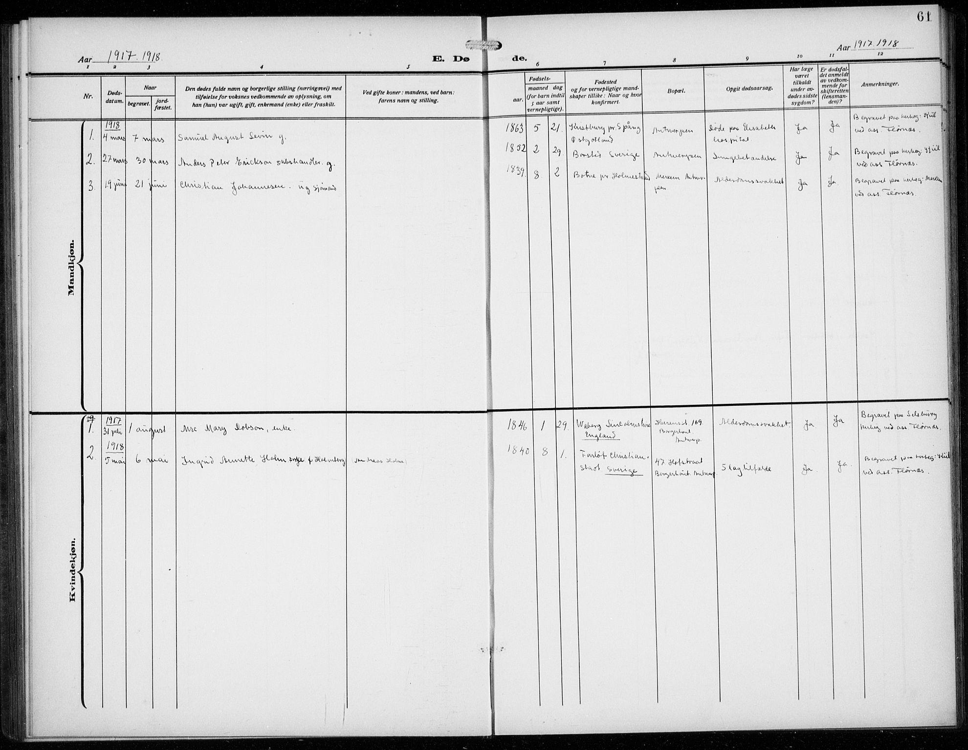 SAB, Den Norske Sjømannsmisjon i utlandet*, Ministerialbok nr. A 3, 1914-1930, s. 61
