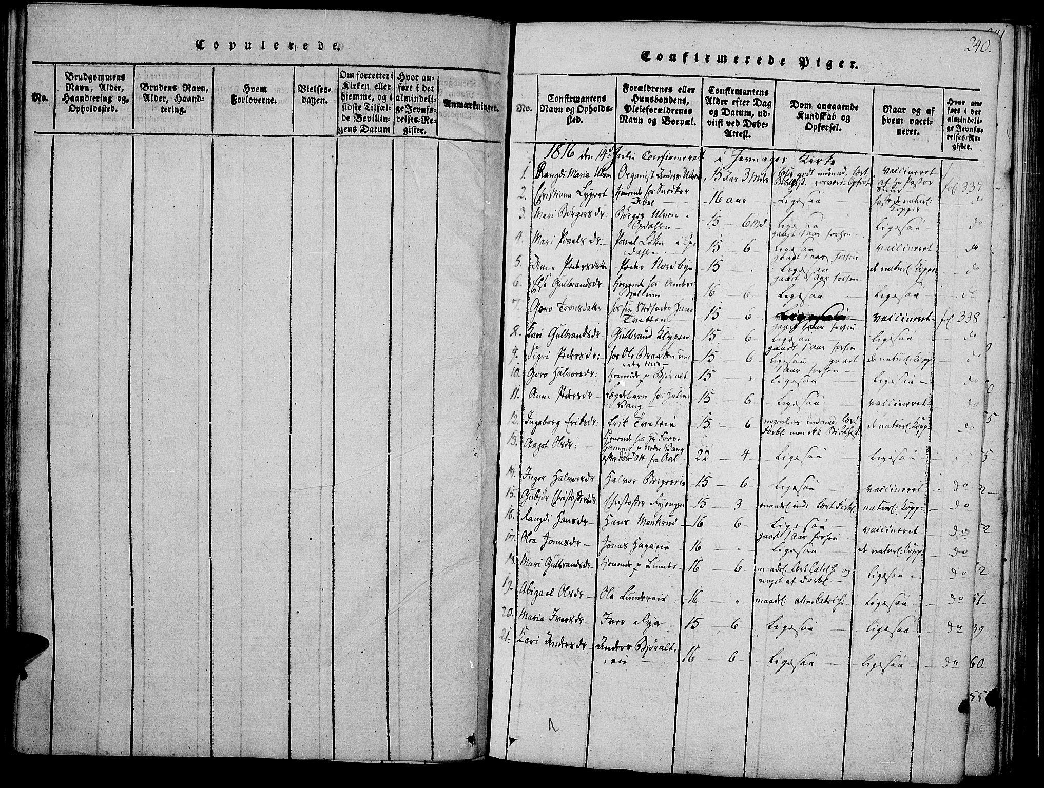 SAH, Jevnaker prestekontor, Ministerialbok nr. 5, 1815-1837, s. 240
