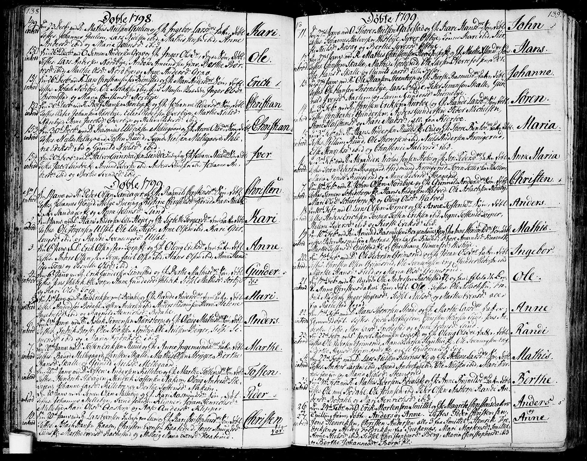 SAO, Rakkestad prestekontor Kirkebøker, F/Fa/L0005: Ministerialbok nr. I 5, 1784-1814, s. 138-139