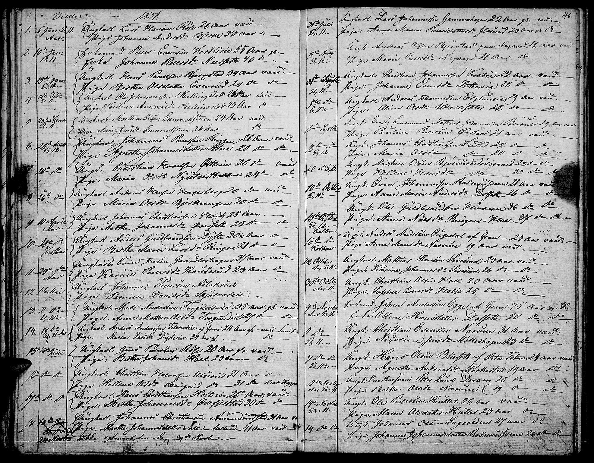 SAH, Vestre Toten prestekontor, H/Ha/Hab/L0003: Klokkerbok nr. 3, 1846-1854, s. 46