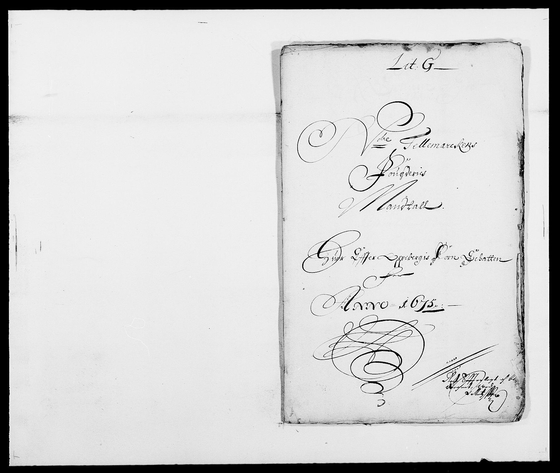 RA, Rentekammeret inntil 1814, Reviderte regnskaper, Fogderegnskap, R35/L2063: Fogderegnskap Øvre og Nedre Telemark, 1675, s. 152