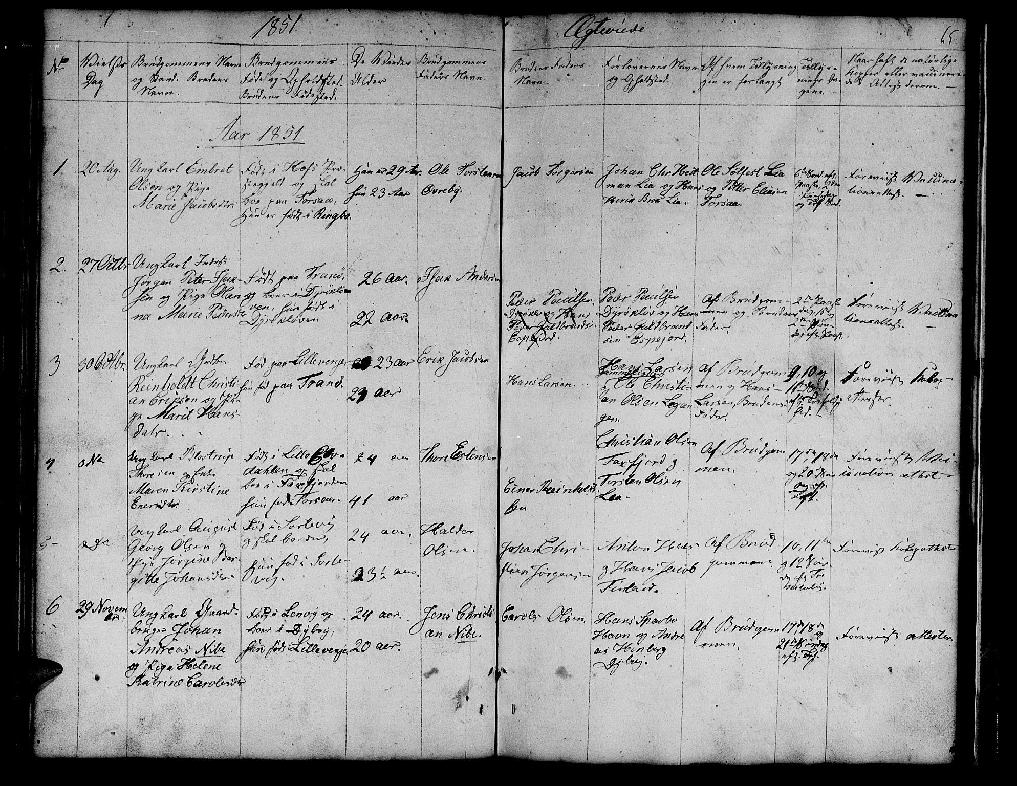 SATØ, Tranøy sokneprestkontor, I/Ia/Iab/L0011klokker: Klokkerbok nr. 11, 1845-1859, s. 65