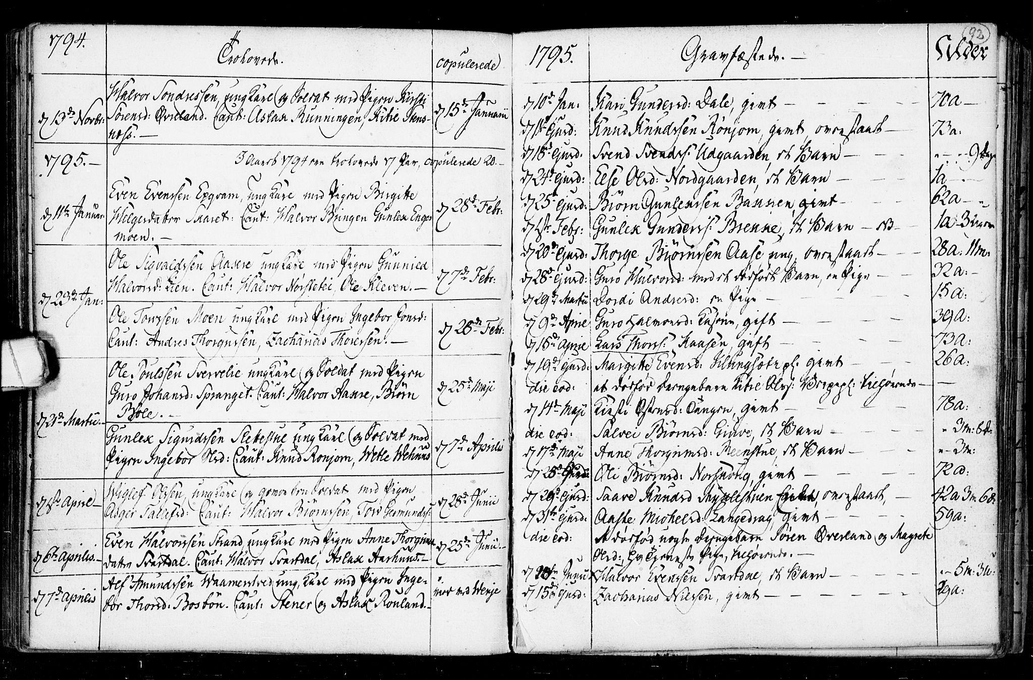 SAKO, Seljord kirkebøker, F/Fa/L0008: Ministerialbok nr. I 8, 1755-1814, s. 92