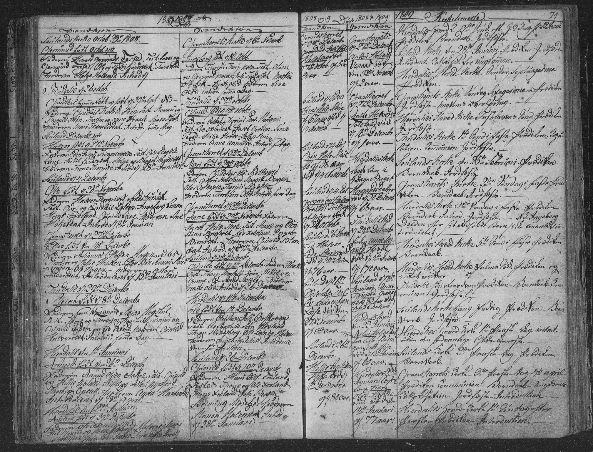 SAKO, Hjartdal kirkebøker, F/Fa/L0006: Ministerialbok nr. I 6, 1801-1814, s. 74