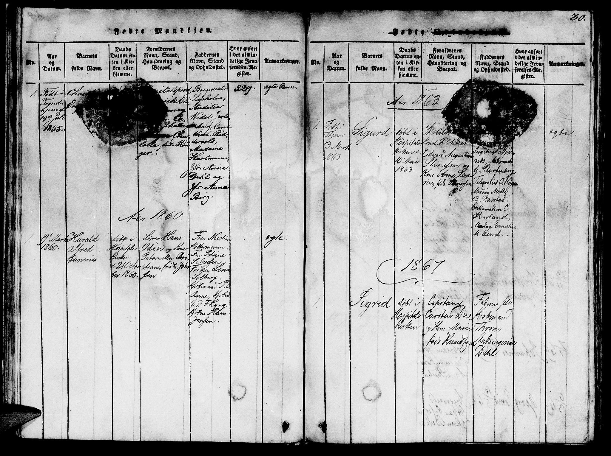 SAT, Ministerialprotokoller, klokkerbøker og fødselsregistre - Sør-Trøndelag, 623/L0478: Klokkerbok nr. 623C01, 1815-1873, s. 30