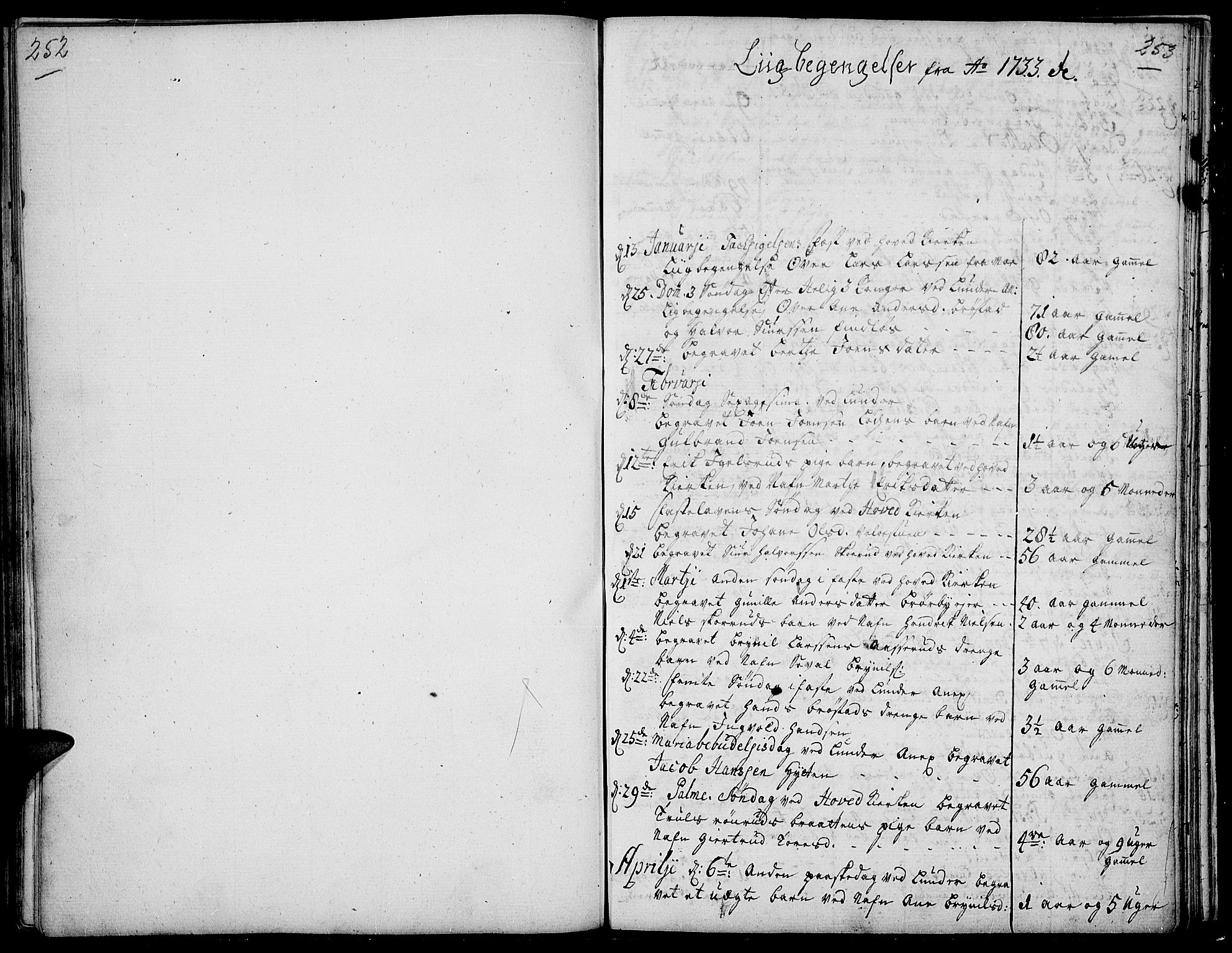 SAH, Jevnaker prestekontor, Ministerialbok nr. 2, 1725-1751, s. 252-253