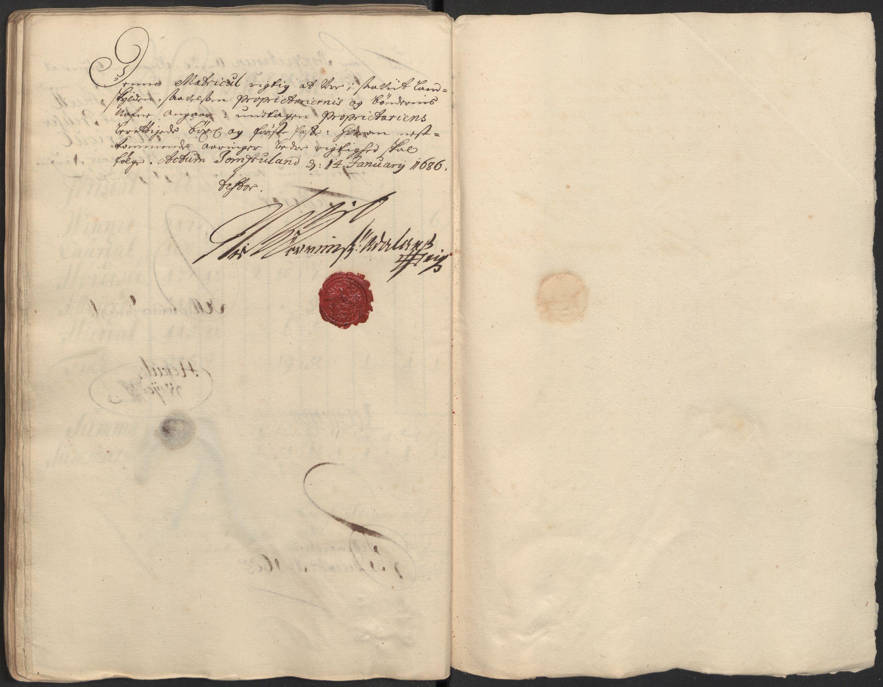 RA, Rentekammeret inntil 1814, Reviderte regnskaper, Fogderegnskap, R35/L2082: Fogderegnskap Øvre og Nedre Telemark, 1685, s. 188