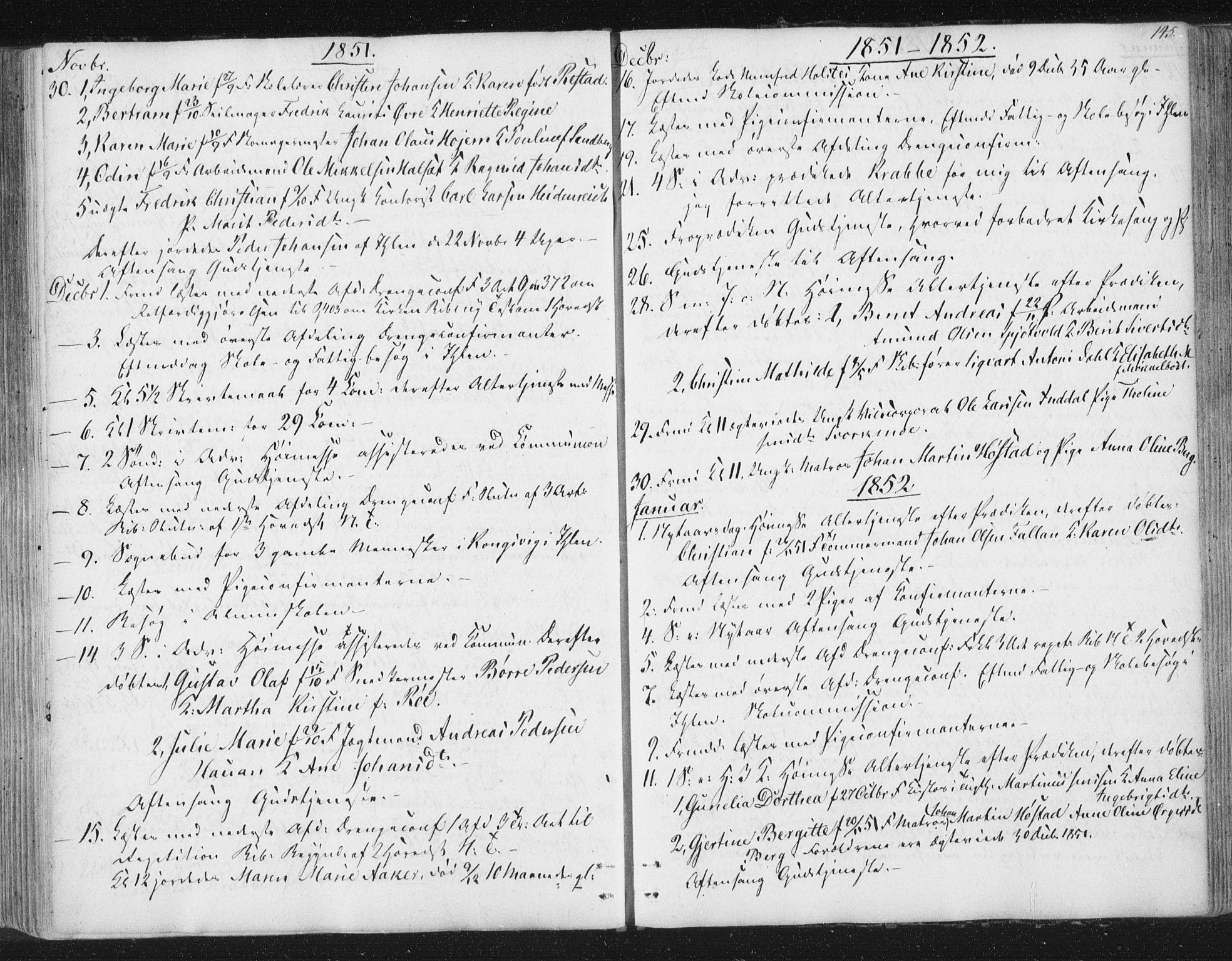 SAT, Ministerialprotokoller, klokkerbøker og fødselsregistre - Sør-Trøndelag, 602/L0127: Residerende kapellans bok nr. 602B01, 1821-1875, s. 145