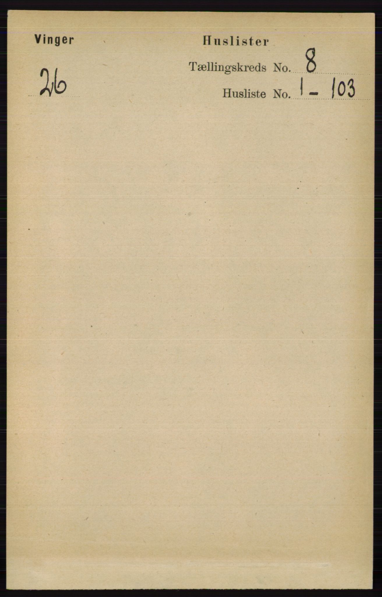 RA, Folketelling 1891 for 0421 Vinger herred, 1891, s. 3525