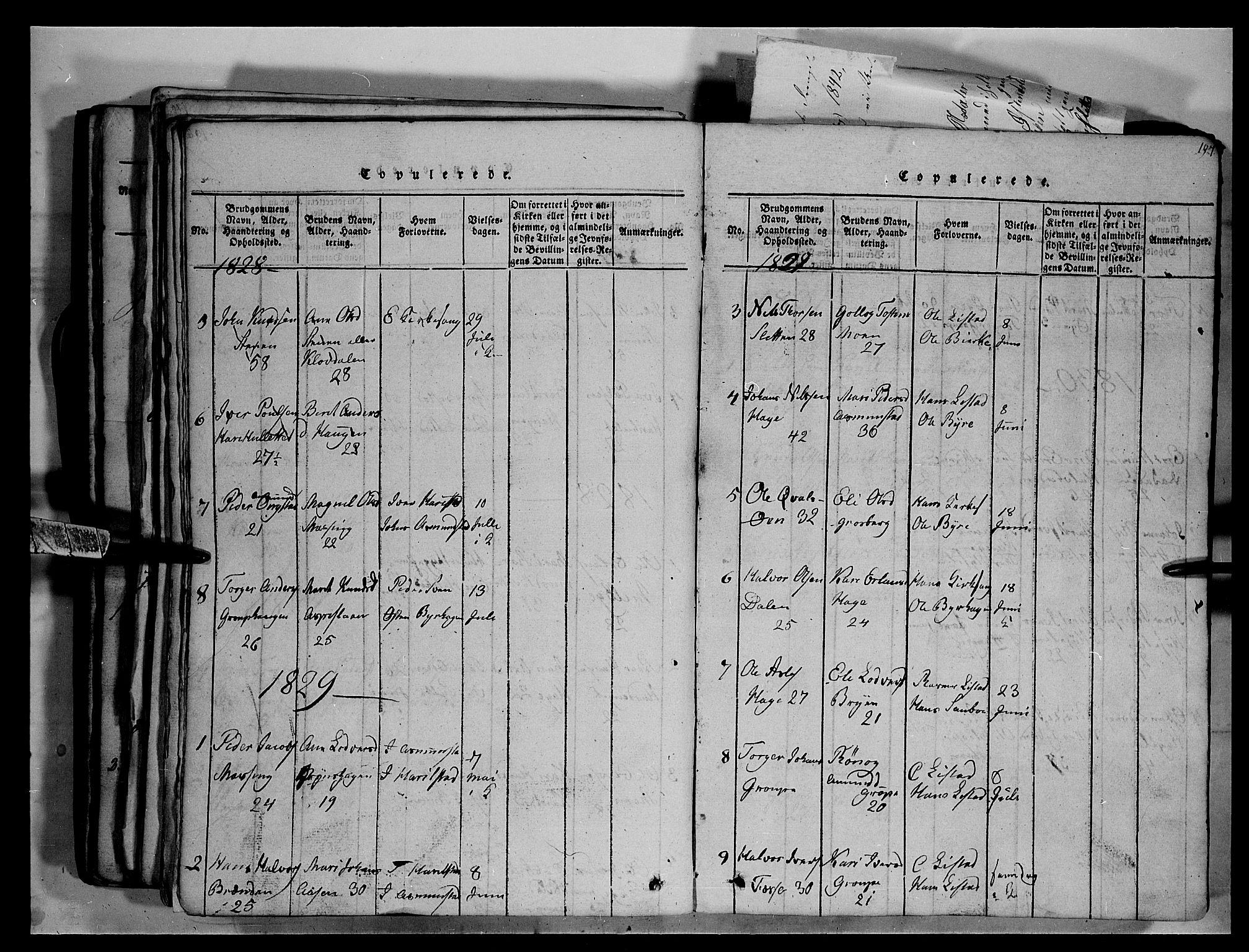 SAH, Fron prestekontor, H/Ha/Hab/L0003: Klokkerbok nr. 3, 1816-1850, s. 197