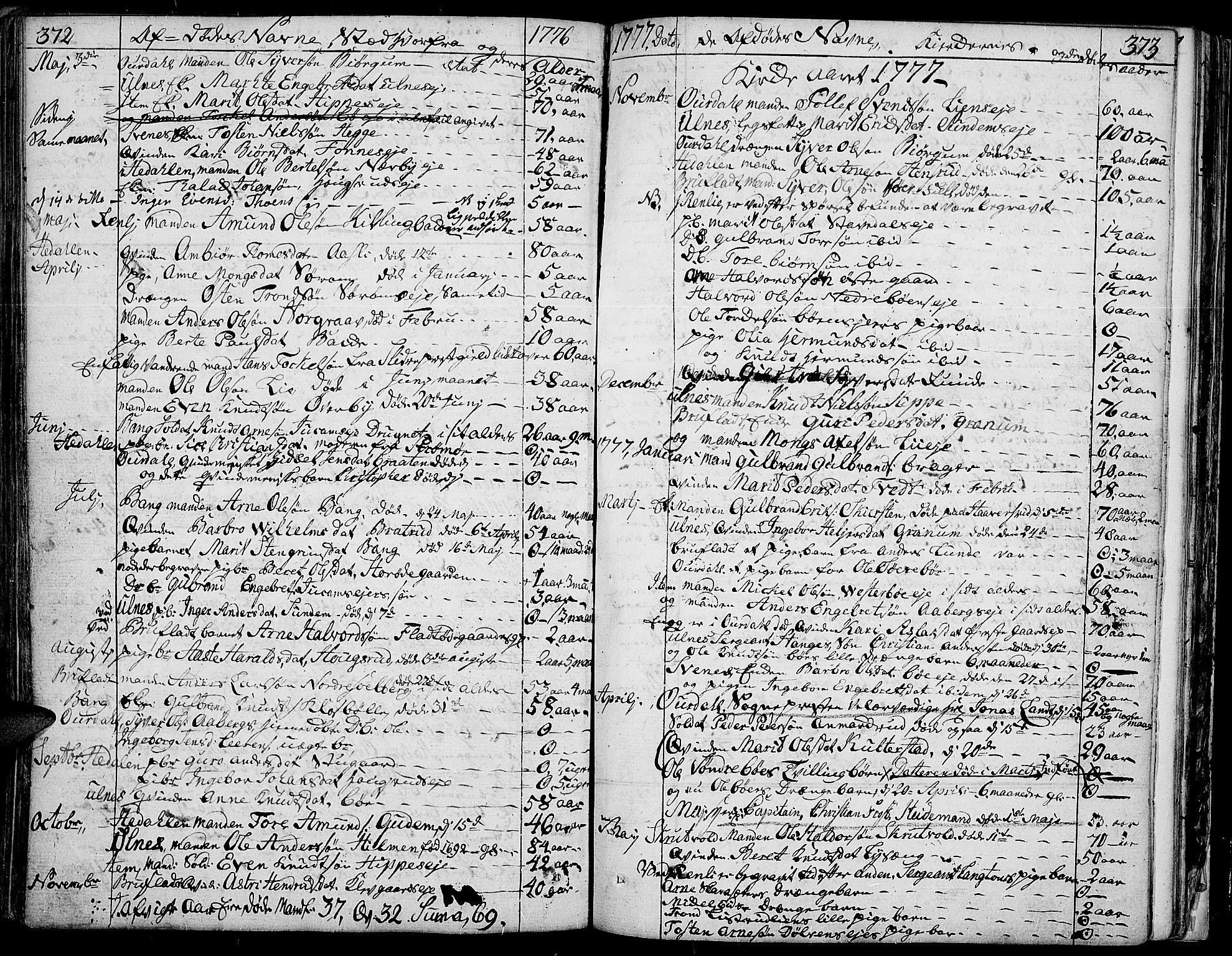 SAH, Aurdal prestekontor, Ministerialbok nr. 5, 1763-1781, s. 372-373