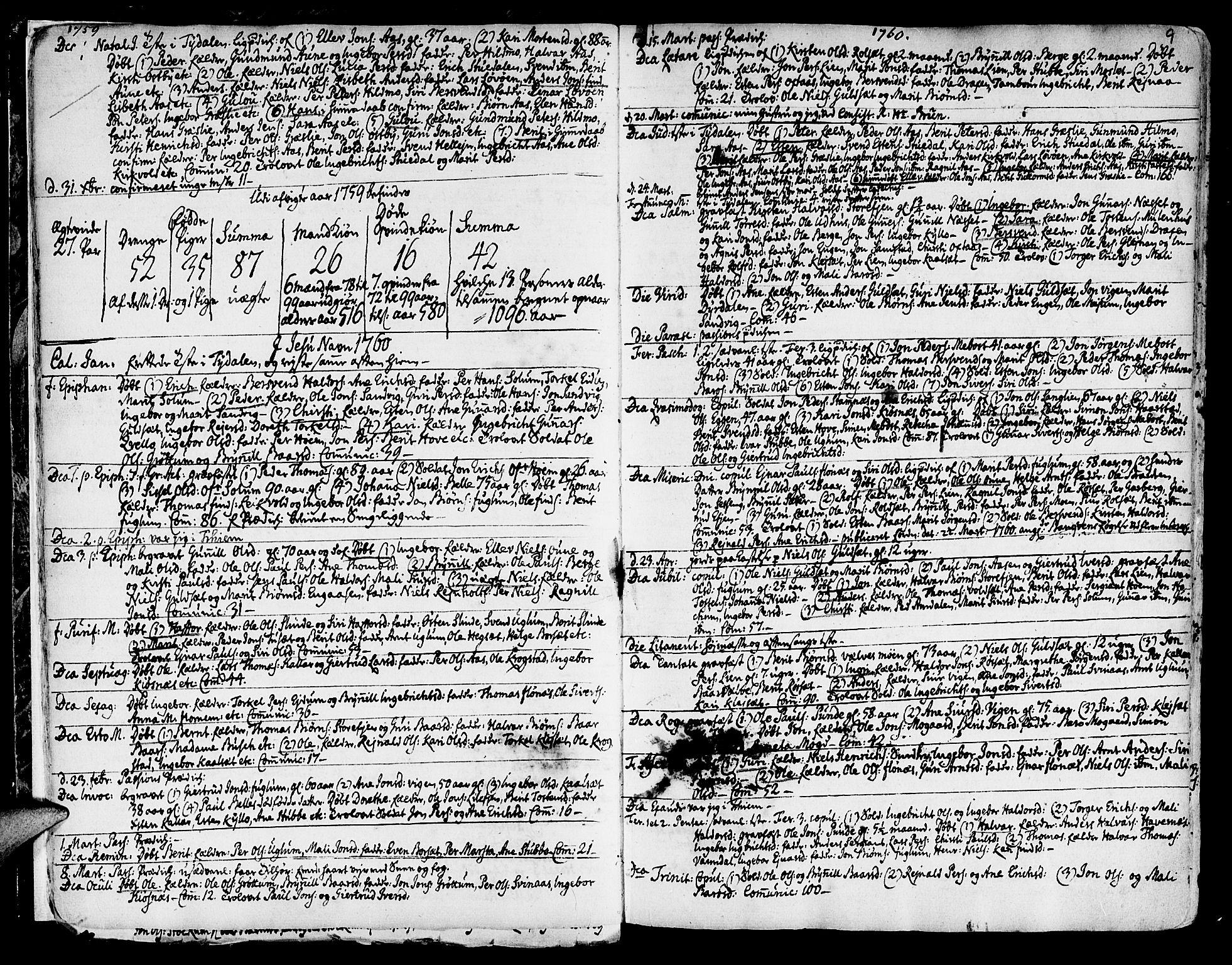 SAT, Ministerialprotokoller, klokkerbøker og fødselsregistre - Sør-Trøndelag, 695/L1138: Ministerialbok nr. 695A02 /1, 1757-1801, s. 9