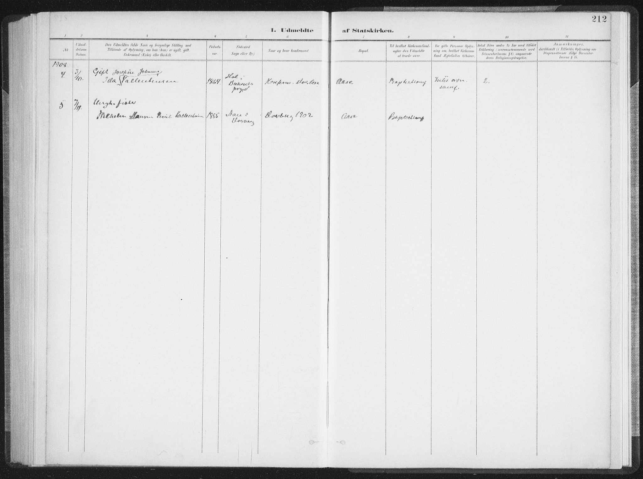 SAT, Ministerialprotokoller, klokkerbøker og fødselsregistre - Nordland, 897/L1400: Ministerialbok nr. 897A07, 1897-1908, s. 212