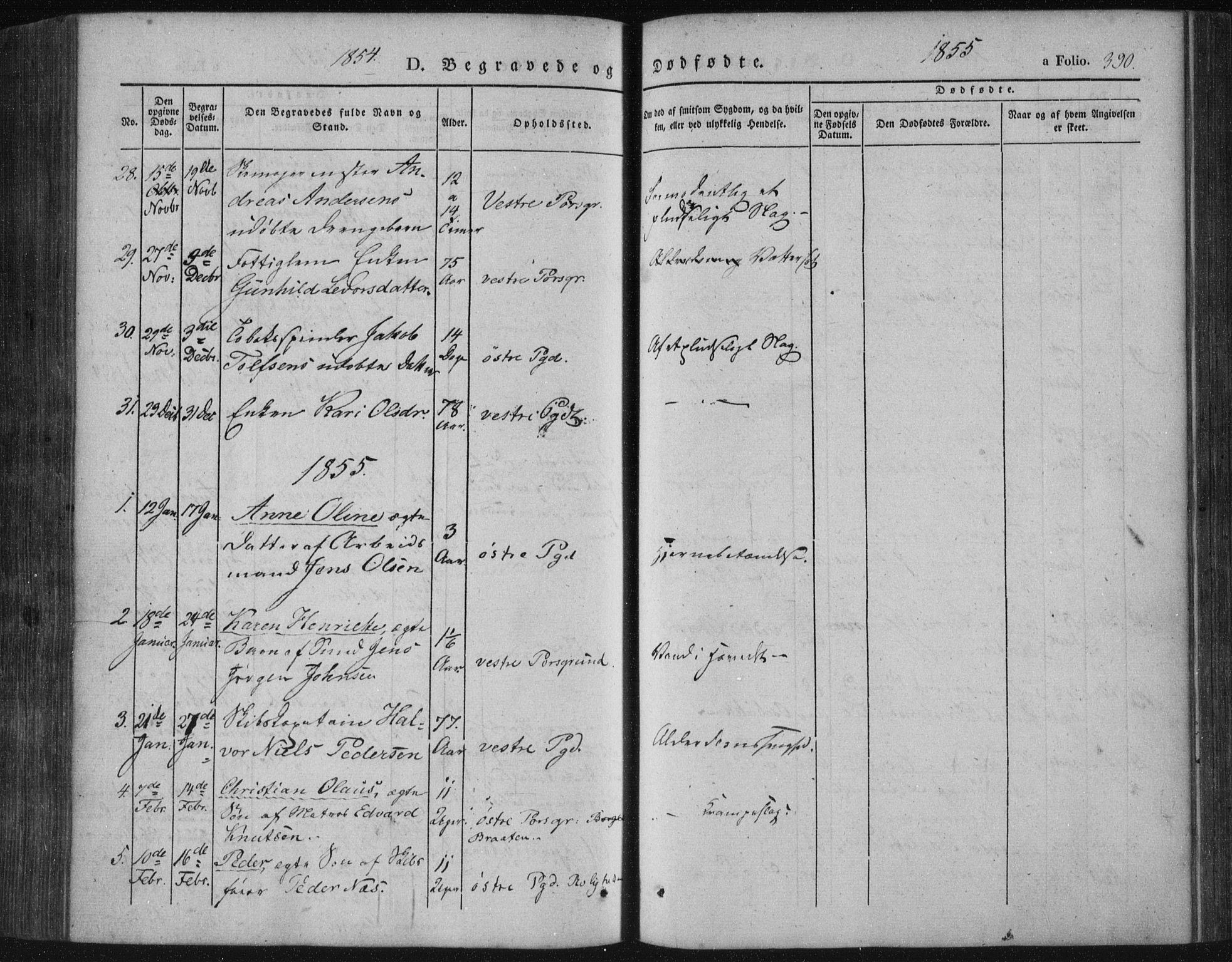 SAKO, Porsgrunn kirkebøker , F/Fa/L0006: Ministerialbok nr. 6, 1841-1857, s. 390