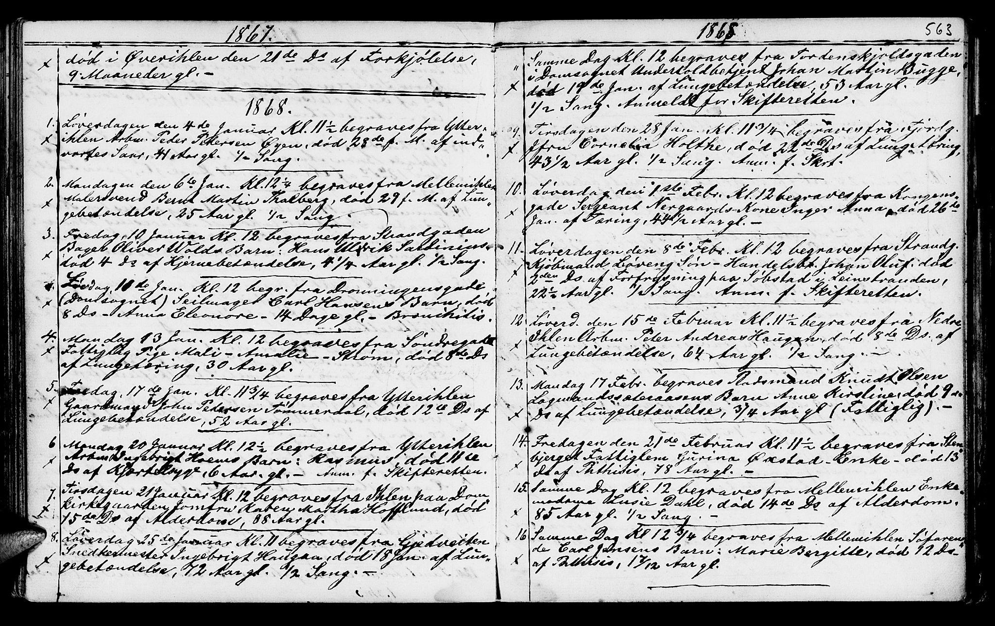SAT, Ministerialprotokoller, klokkerbøker og fødselsregistre - Sør-Trøndelag, 602/L0140: Klokkerbok nr. 602C08, 1864-1872, s. 562-563