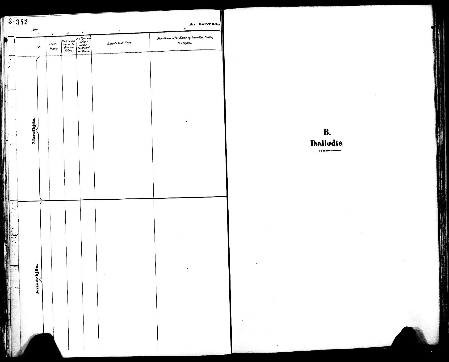 SAT, Ministerialprotokoller, klokkerbøker og fødselsregistre - Sør-Trøndelag, 604/L0197: Ministerialbok nr. 604A18, 1893-1900, s. 342