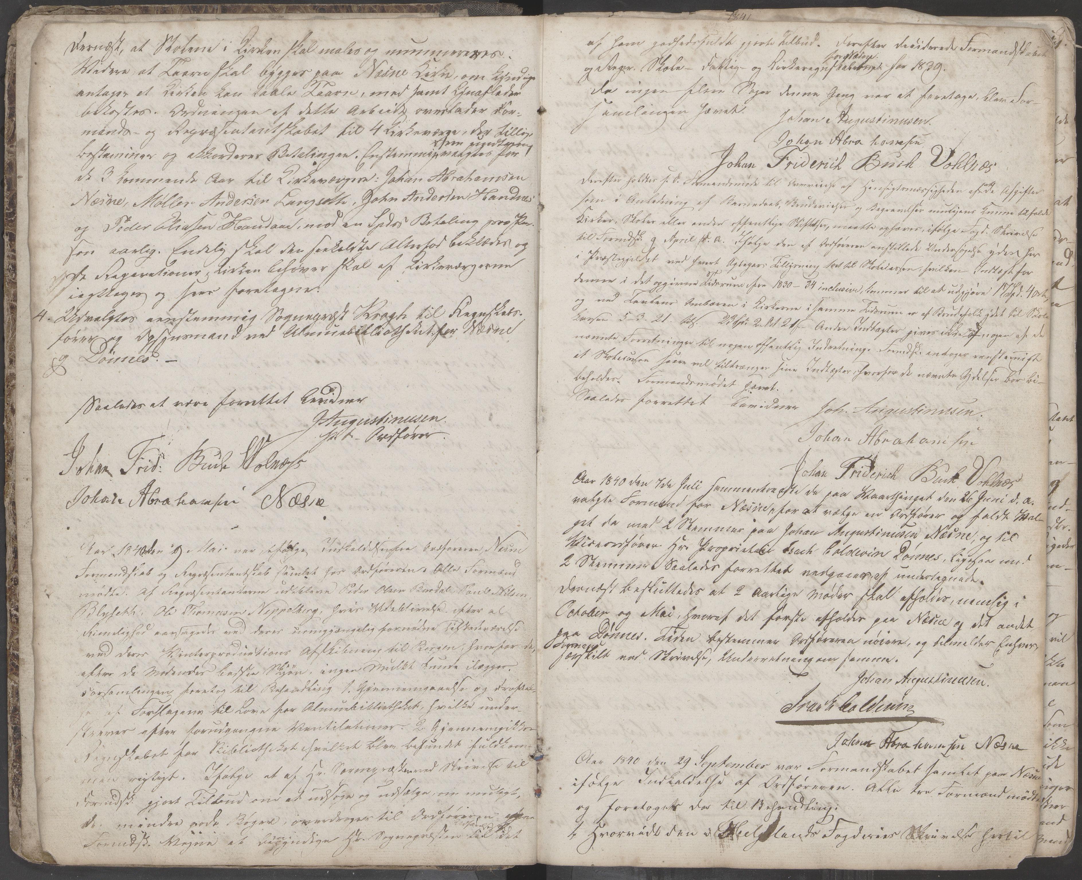 AIN, Nesna kommune. Formannskapet, 100/L0001: Møtebok, 1838-1873, s. 3