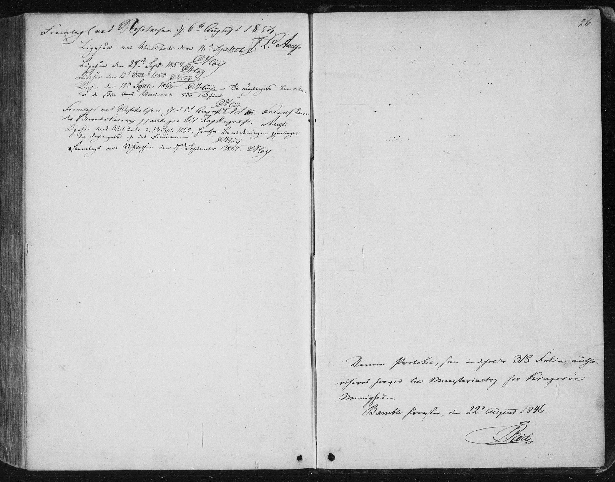 SAKO, Kragerø kirkebøker, F/Fa/L0006: Ministerialbok nr. 6, 1847-1861, s. 26