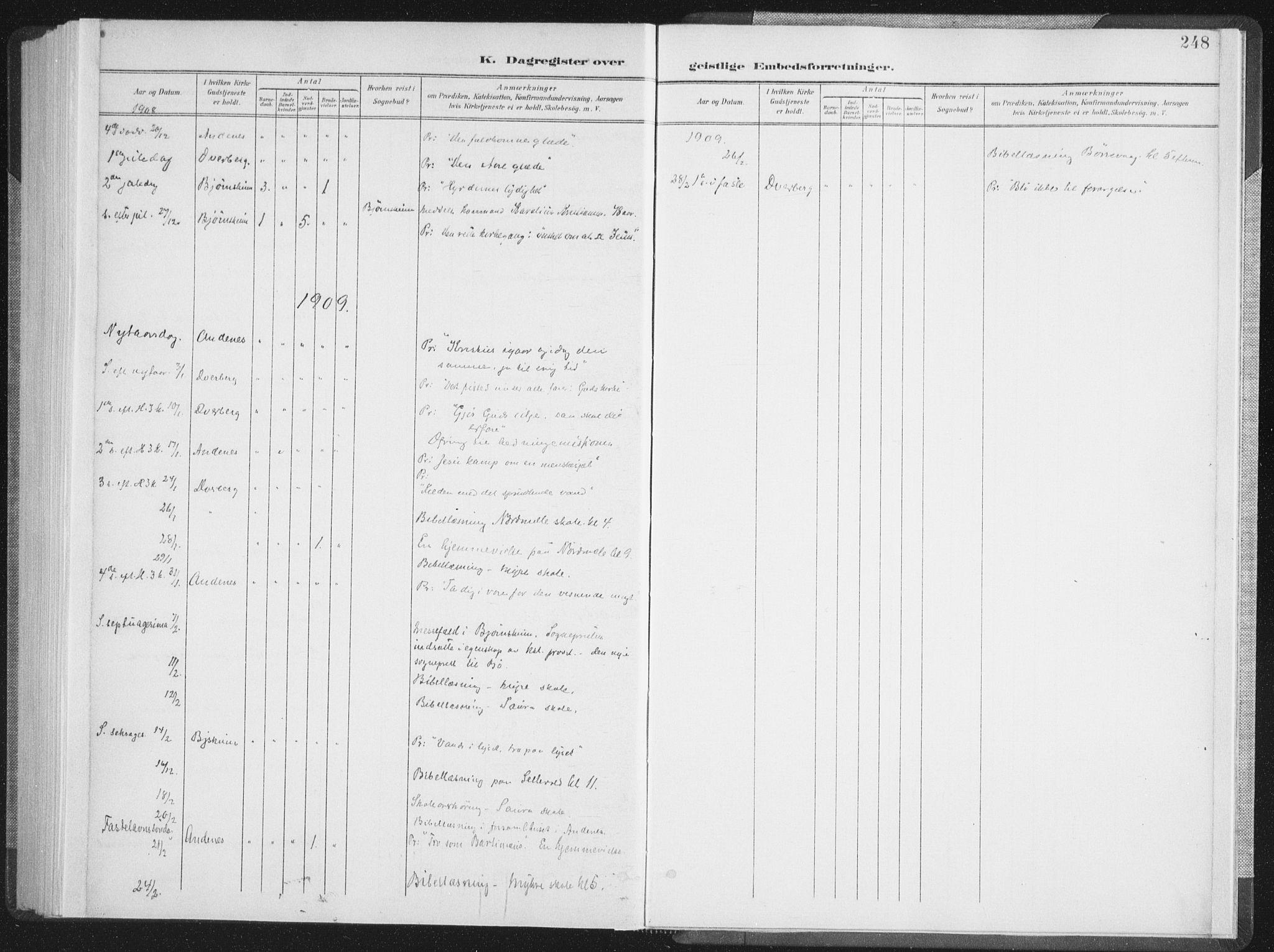 SAT, Ministerialprotokoller, klokkerbøker og fødselsregistre - Nordland, 897/L1400: Ministerialbok nr. 897A07, 1897-1908, s. 248